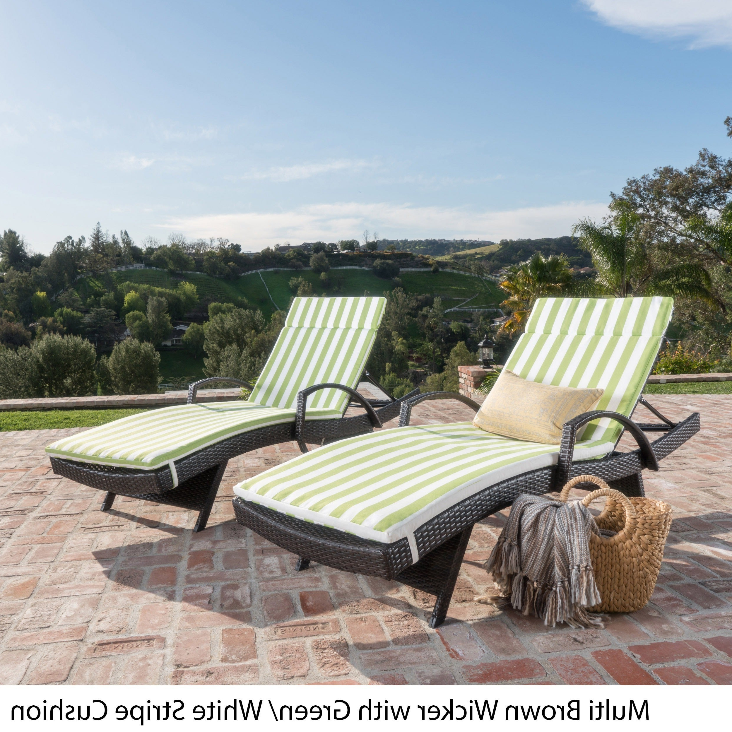 Chaise Lounge Chairs In Bronze With Oatmeal Cushions For Well Liked Havenside Home Vilano Outdoor Cushioned Lounge Chair (set Of 2) (View 14 of 25)