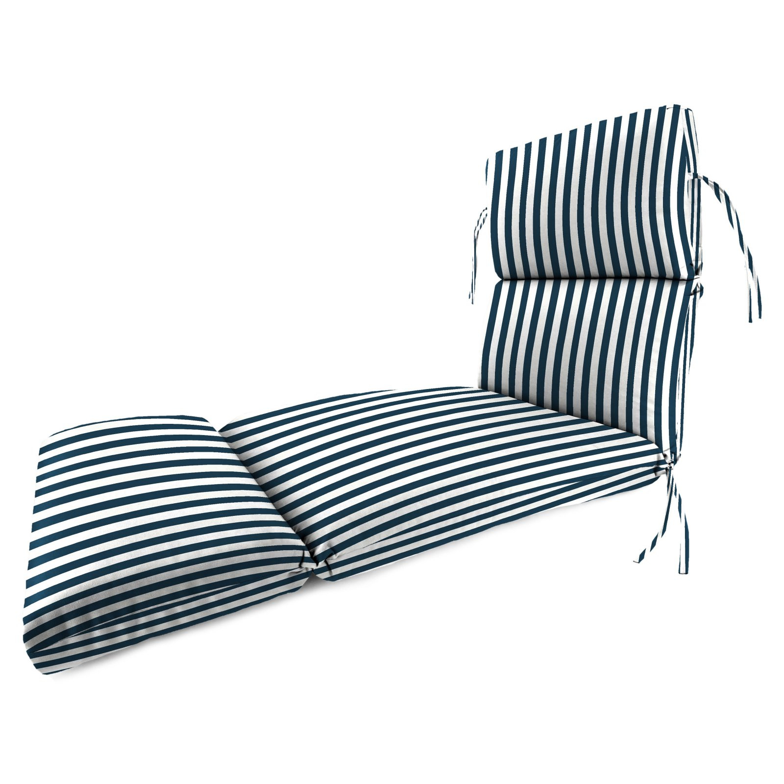 Chaise Lounge Chairs In White With Navy Cushions Inside Recent Jordan Manufacturing 74 In (View 18 of 25)