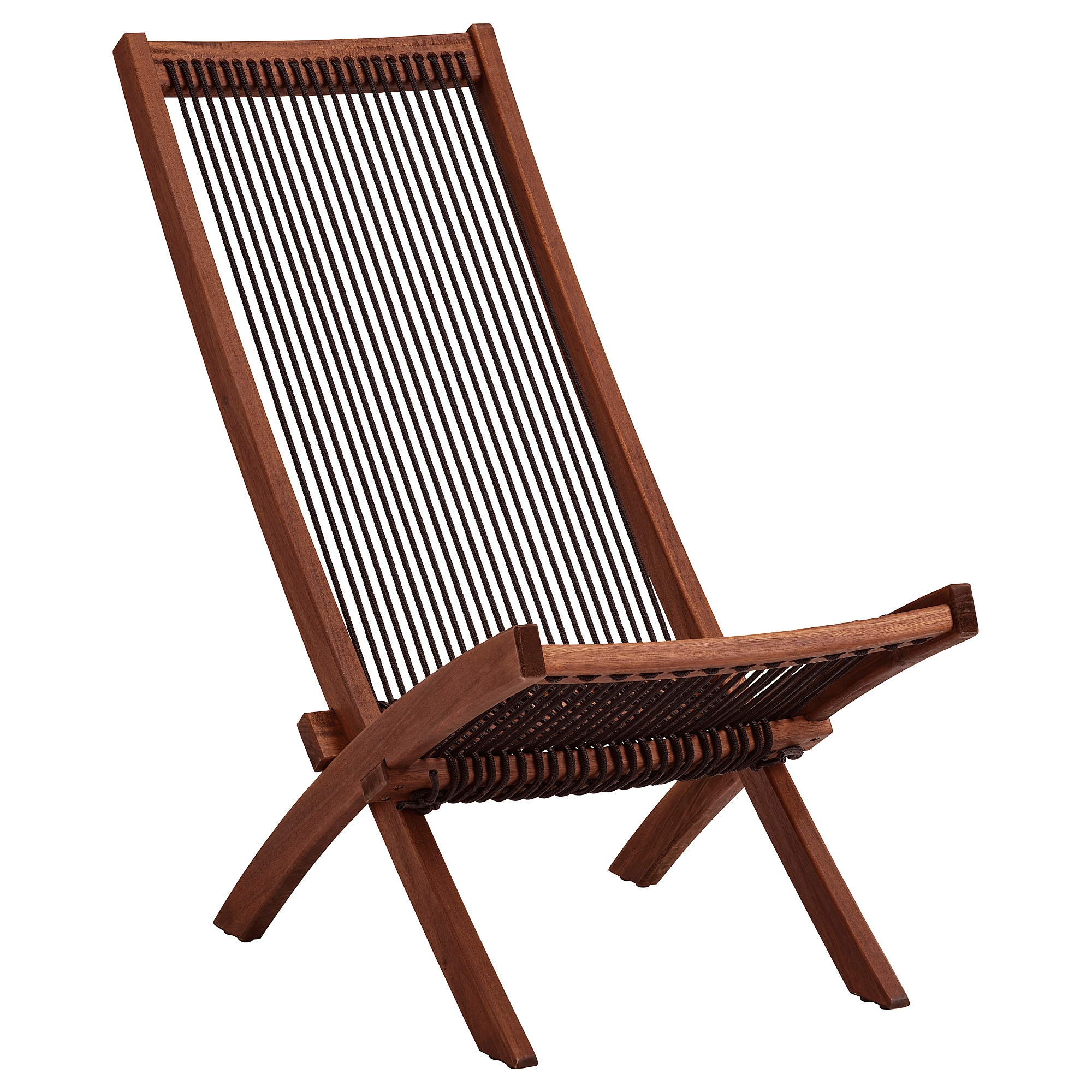 Chaise, Outdoor Brommö Brown Stained Black, Brown Intended For Most Recently Released Brown Folding Patio Chaise Lounger Chairs (View 9 of 25)