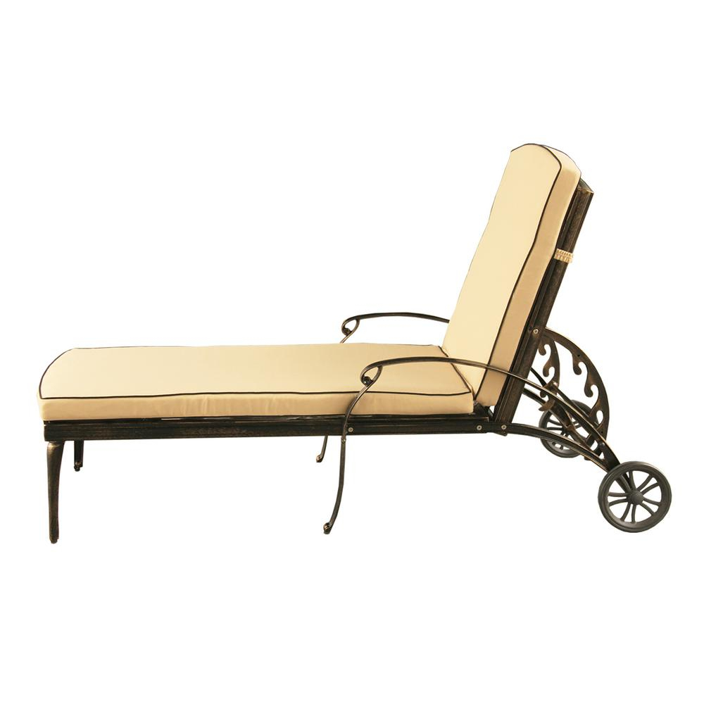 Contemporary Modern Mesh Lattice Aluminum Outdoor Patio Garden Pool Chaise Lounge In Bronze With Wheels And Cushion Within 2019 Lattice Outdoor Patio Pool Chaise Lounges With Wheels And Cushion (View 3 of 25)