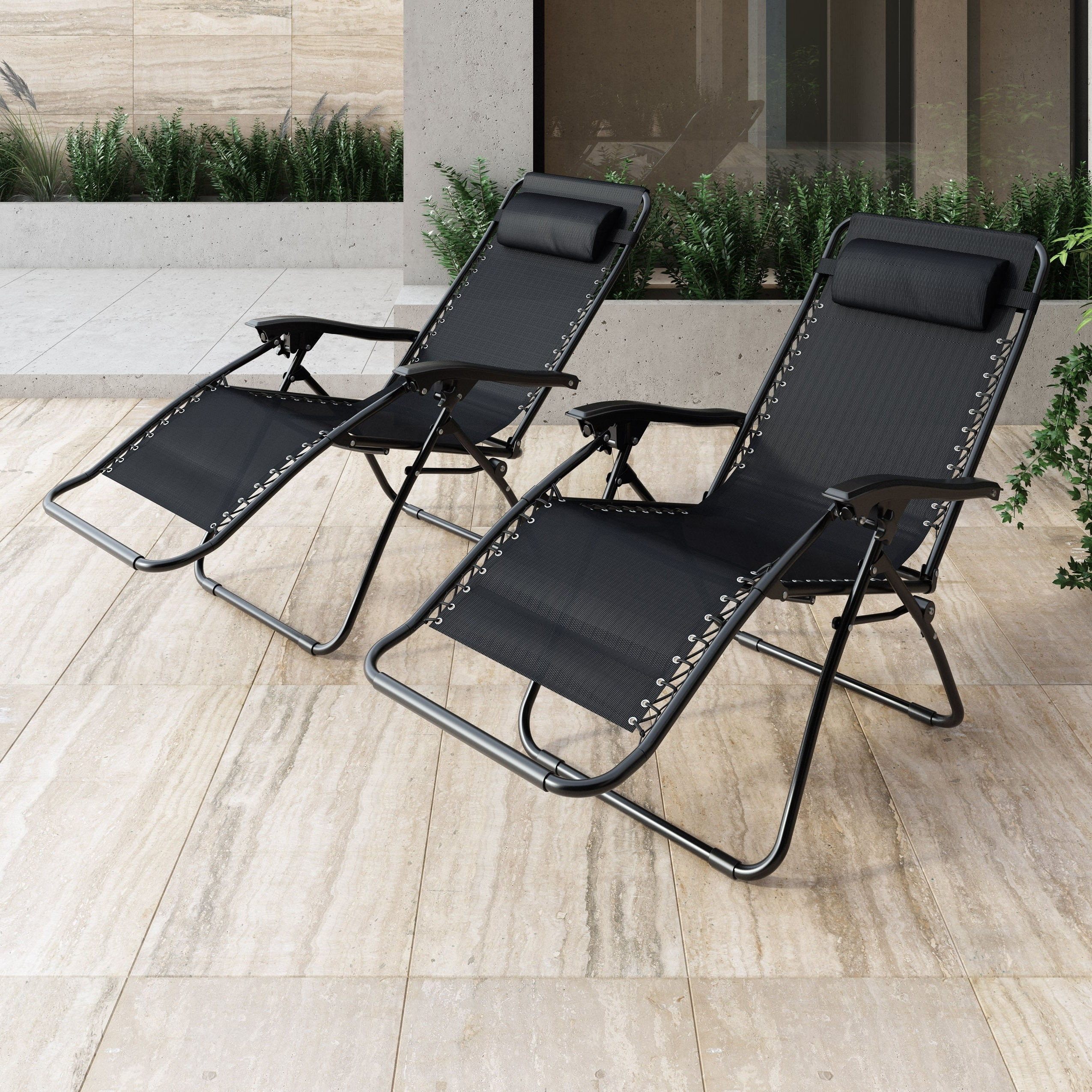 Corliving Riverside Textured Loungers In Latest Corliving Riverside Textured Zero Gravity Lounger, Set Of (View 3 of 25)