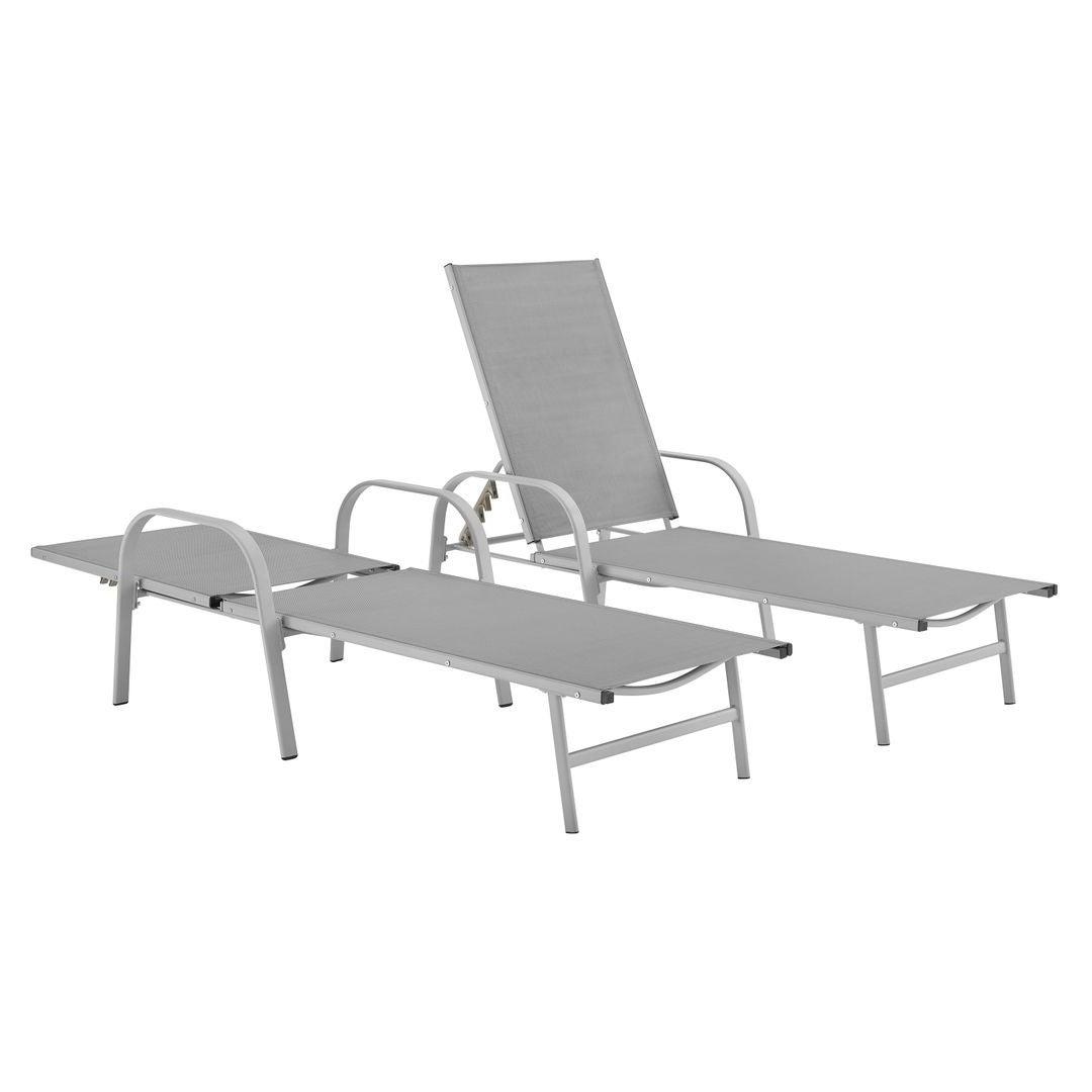 Corvus Antonio Sling Fabric Adjustable Outdoor Chaise Lounge Pertaining To Trendy Antonio Sling Fabric Adjustable Outdoor Chaise Lounges (View 11 of 25)