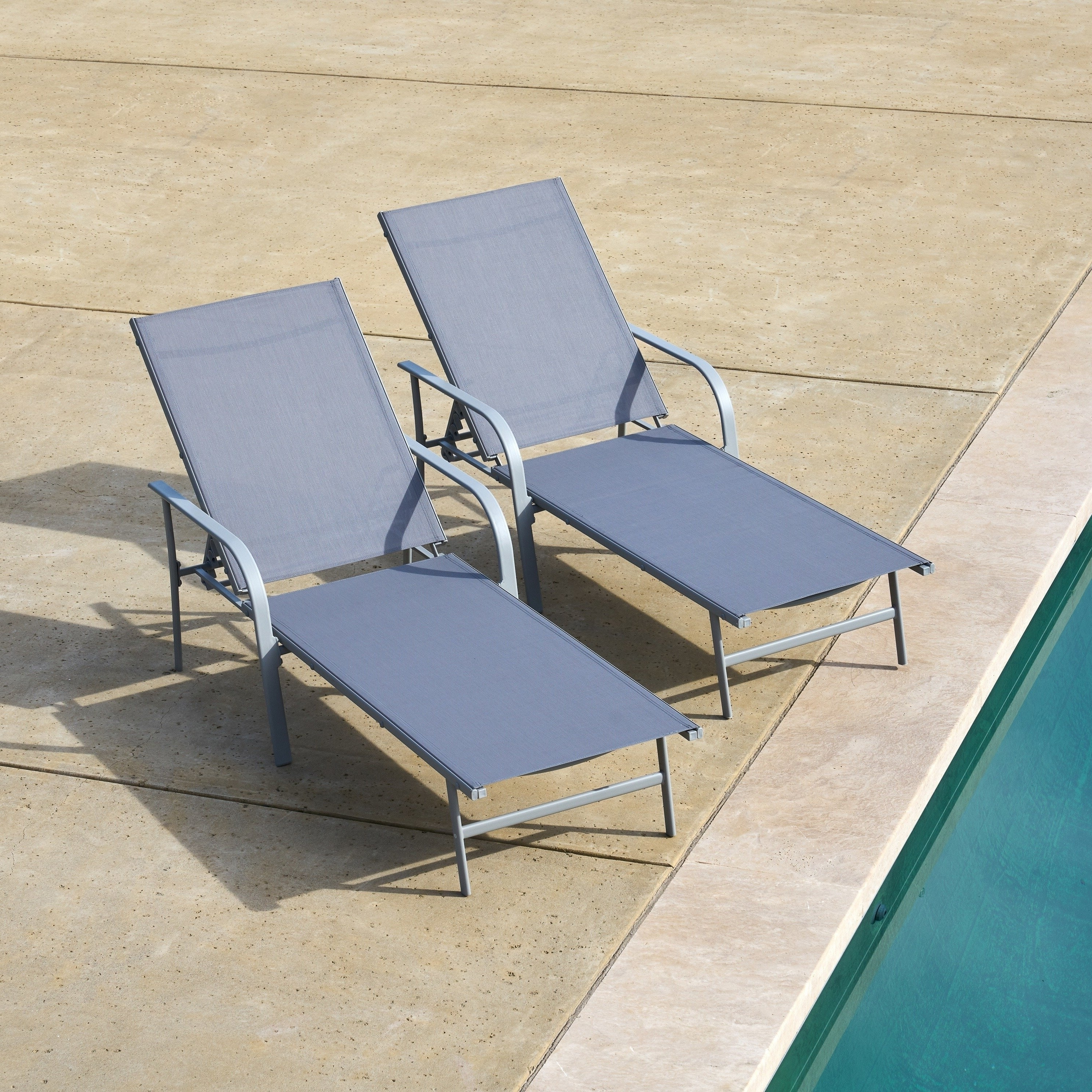 Corvus Antonio Sling Fabric Adjustable Outdoor Chaise Lounge With Regard To Best And Newest Antonio Sling Fabric Adjustable Outdoor Chaise Lounges (View 13 of 25)