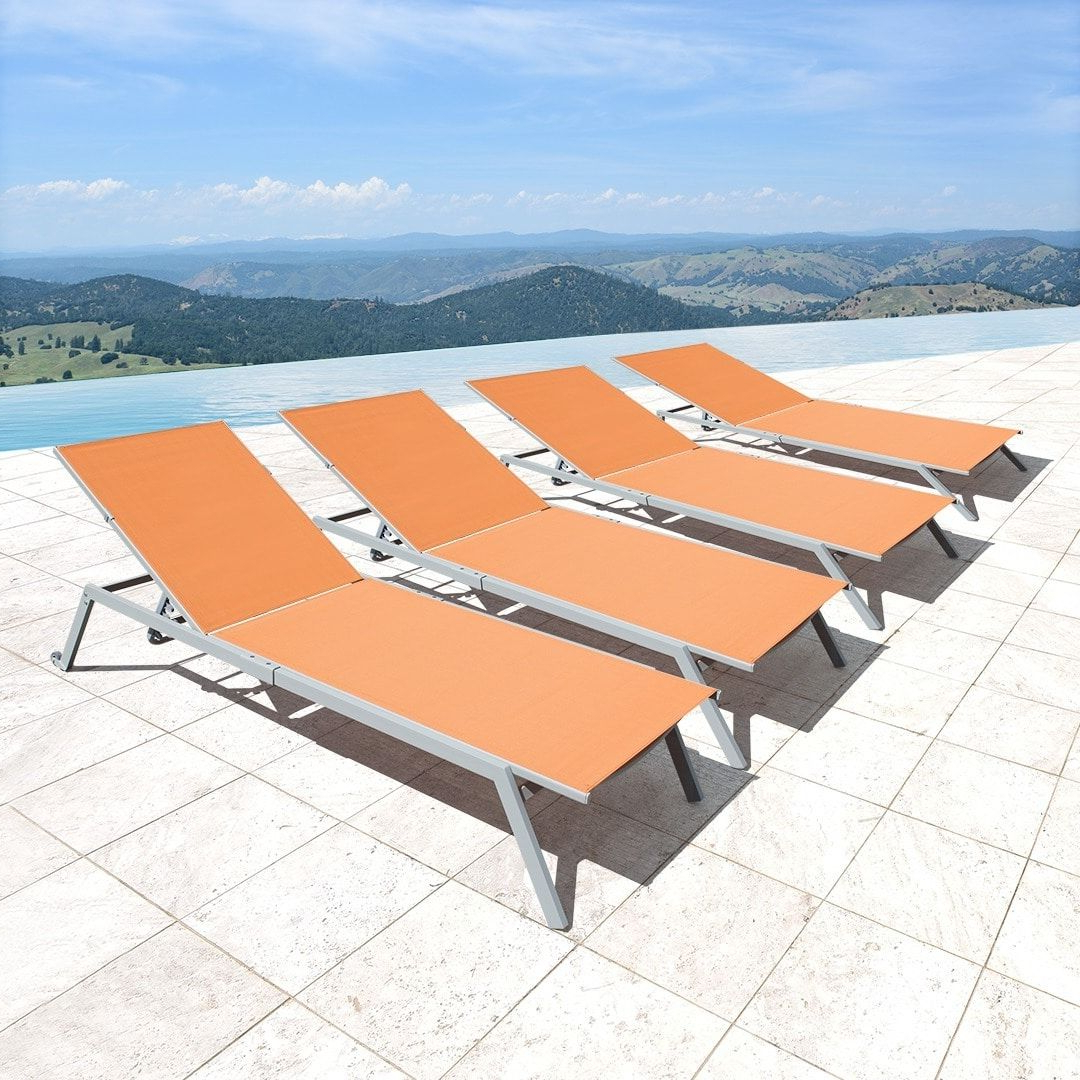 Corvus Torino Sling Fabric Reclining Outdoor Chaise Lounges Within Newest Fabric Reclining Outdoor Chaise Lounges (View 5 of 25)