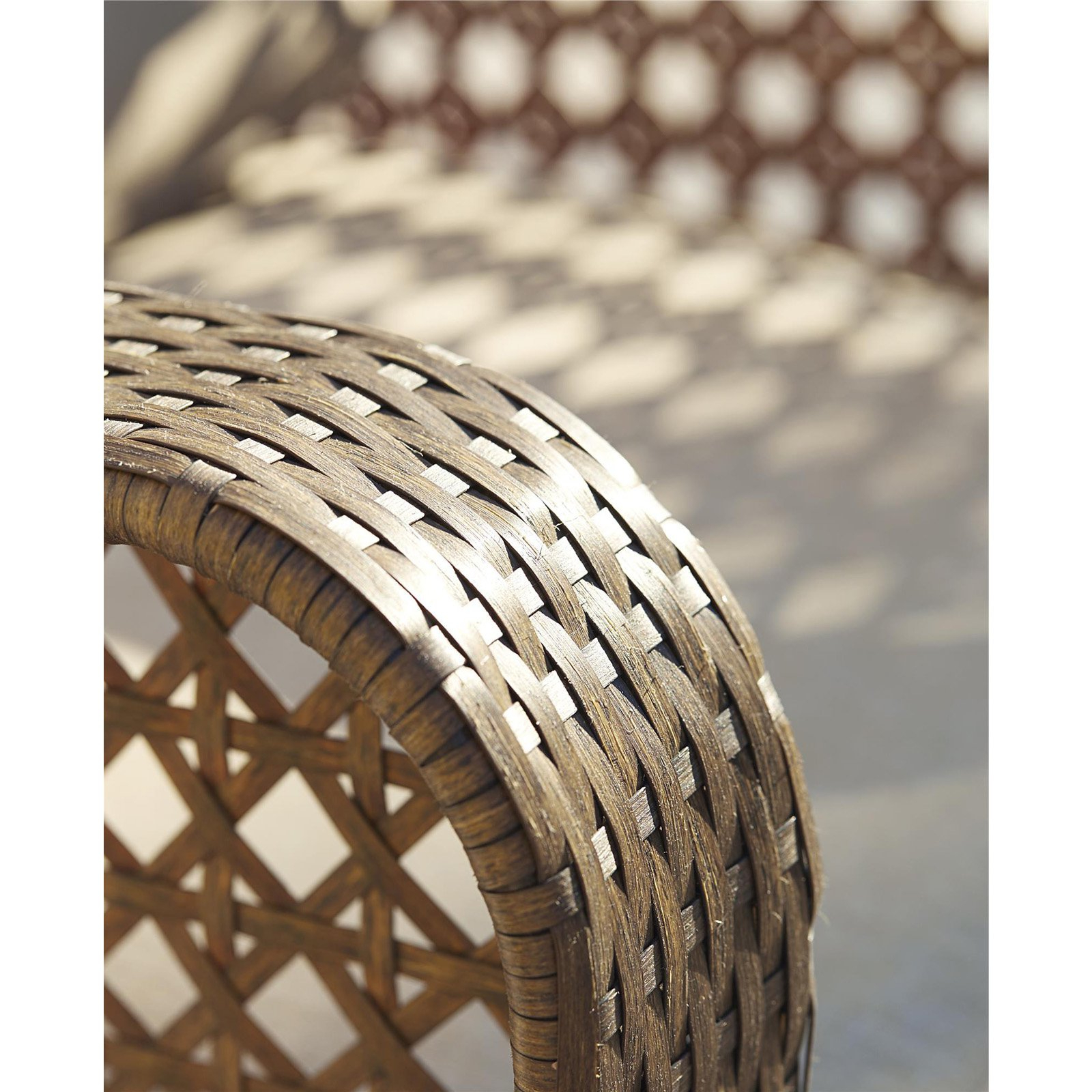 Cosco Outdoor Adjustable Chaise Lounge Chair Lakewood Ranch Steel Woven Wicker Patio Furniture With Cushion, Brown With Most Recently Released Cosco Outdoor Steel Woven Wicker Chaise Lounge Chairs (View 9 of 25)