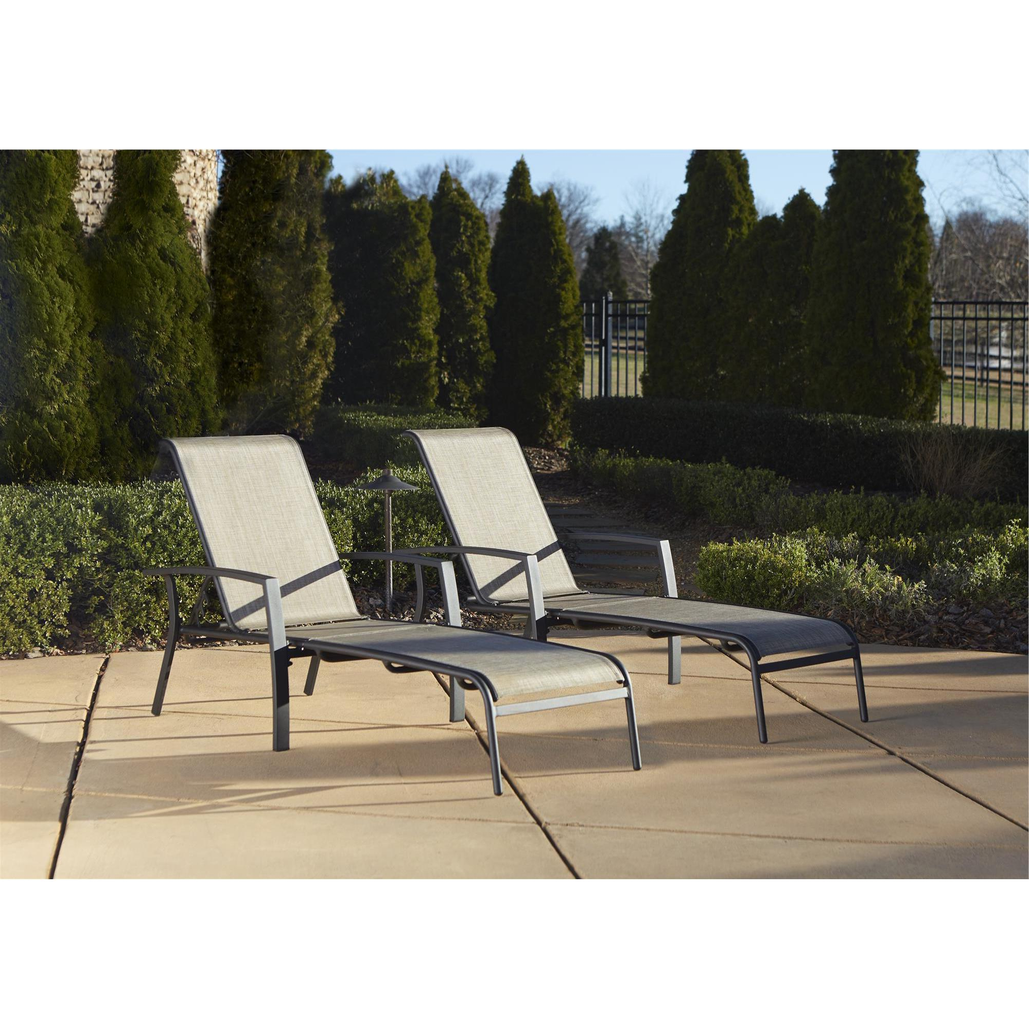 Cosco Outdoor Aluminum Chaise Lounge Chair (set Of 2) With Regard To Most Popular Cosco Outdoor Aluminum Chaise Lounge Chairs (View 3 of 25)