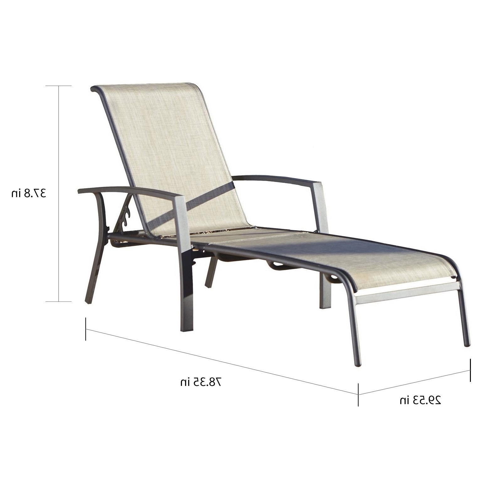 Cosco Outdoor Aluminum Chaise Lounge Chairs Throughout Most Current Cosco Outdoor Aluminum Chaise Lounge Chair (set Of 2) (View 2 of 25)