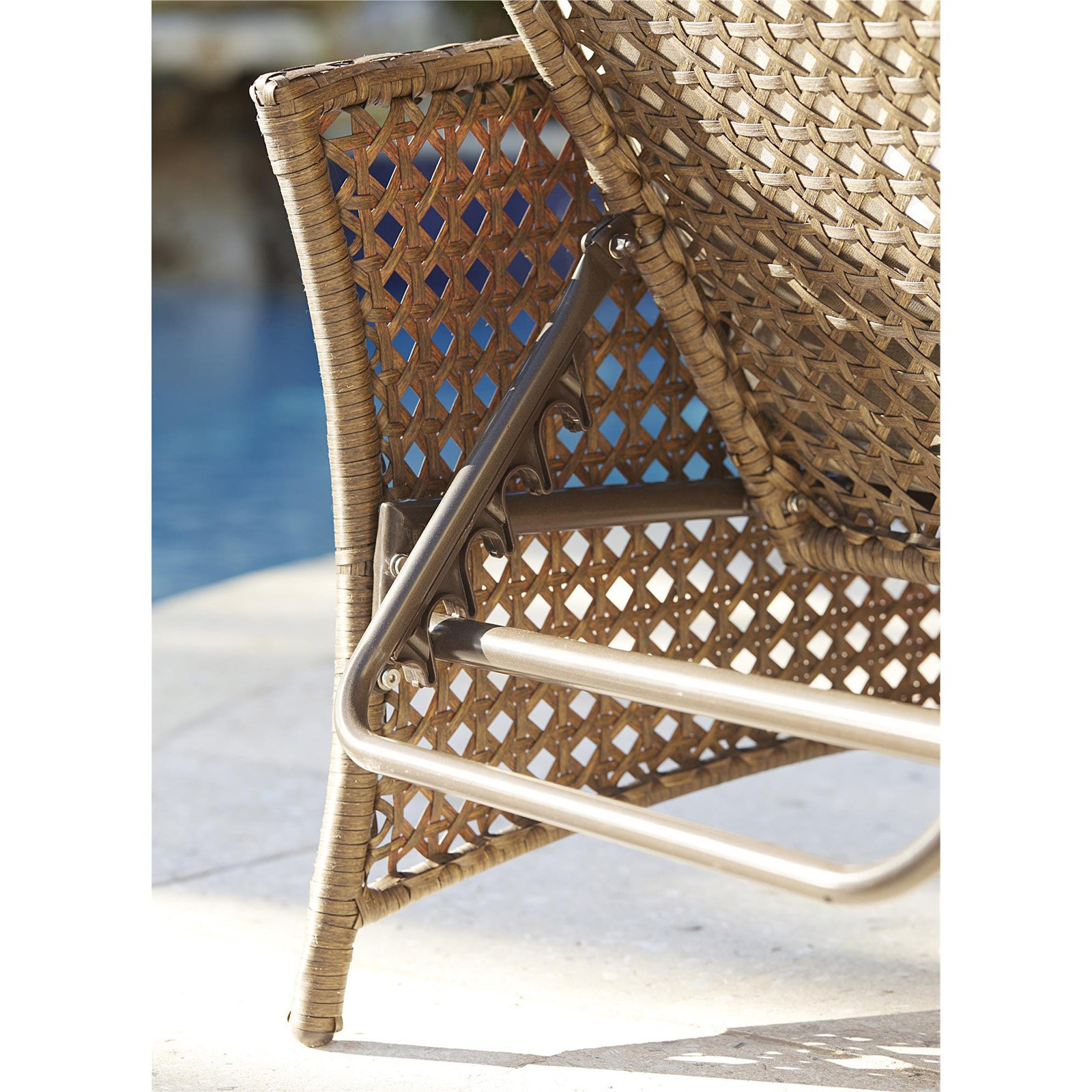Cosco Outdoor Steel Woven Wicker Chaise Lounge Chairs In Most Recently Released Cosco Outdoor Adjustable Chaise Lounge Chair Lakewood Ranch Steel Woven Wicker Patio Furniture With Cushion, Brown (View 4 of 25)