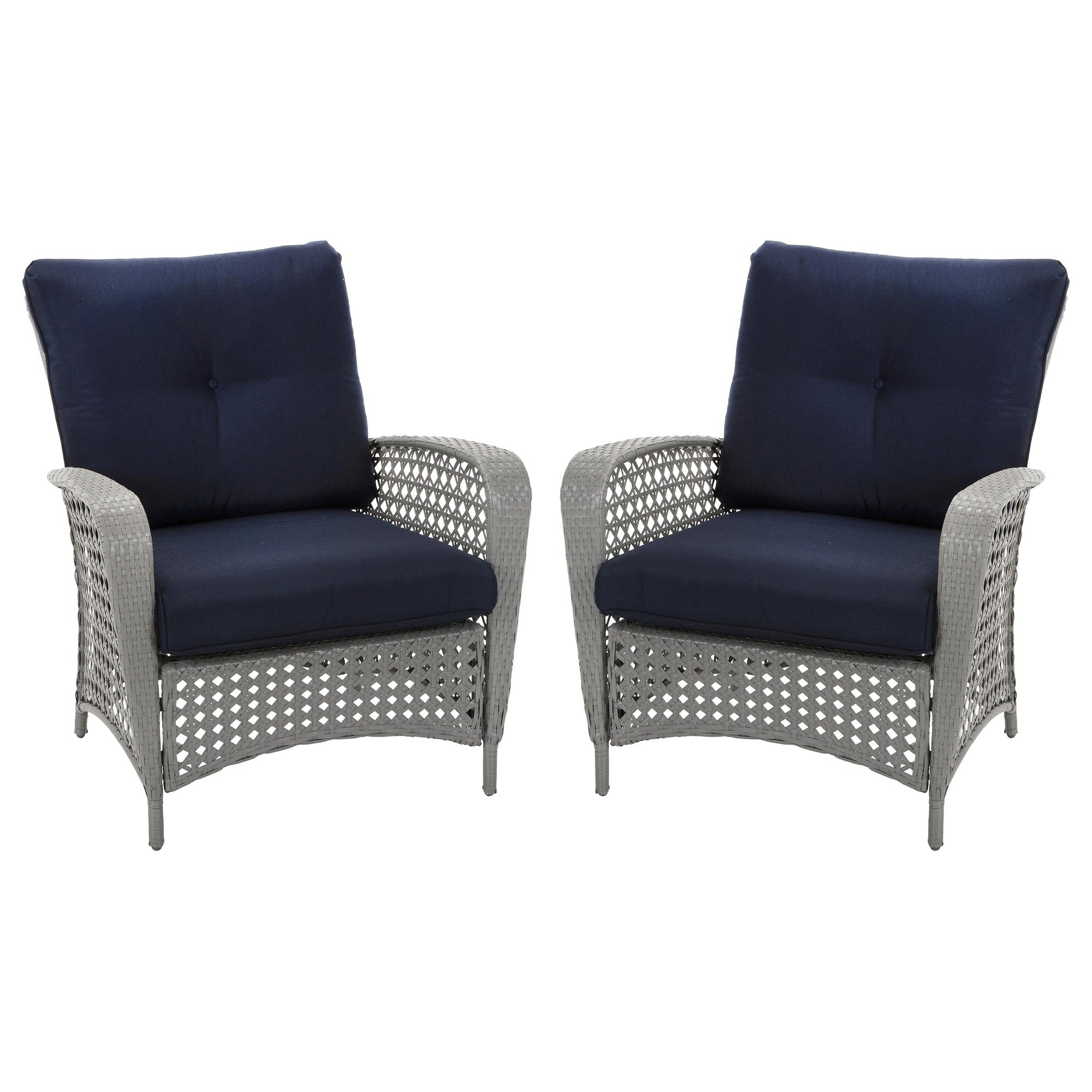 Cosco Outdoor Steel Woven Wicker Chaise Lounge Chairs With Regard To Most Up To Date Cosco Outdoor Living Lakewood Ranch Steel Woven Wicker Lounge Chairs With Cushions (set Of 2 Chairs) (View 13 of 25)