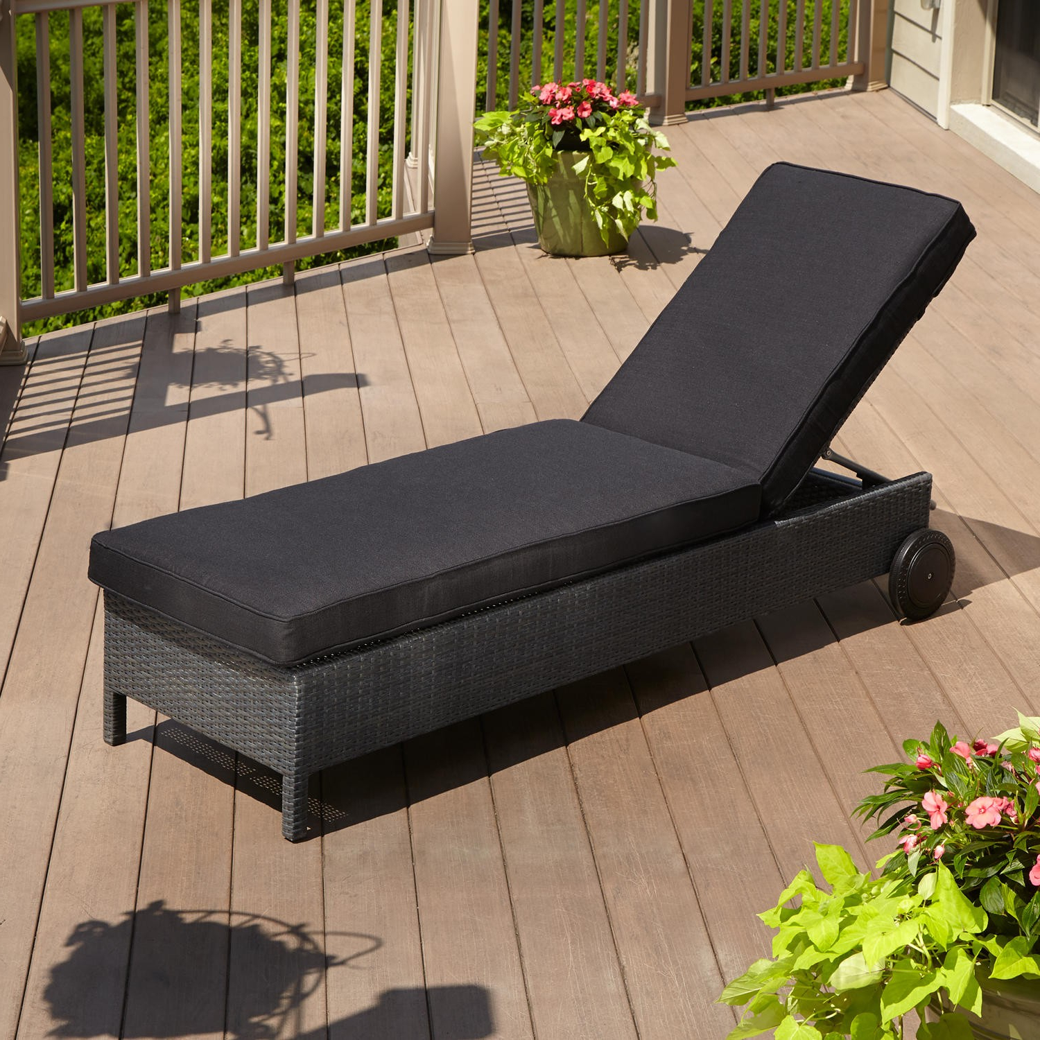 Current All Weather Rattan Wicker Chaise Lounges For Outdoor Patio Chaise Lounge – Patio Ideas (View 12 of 25)