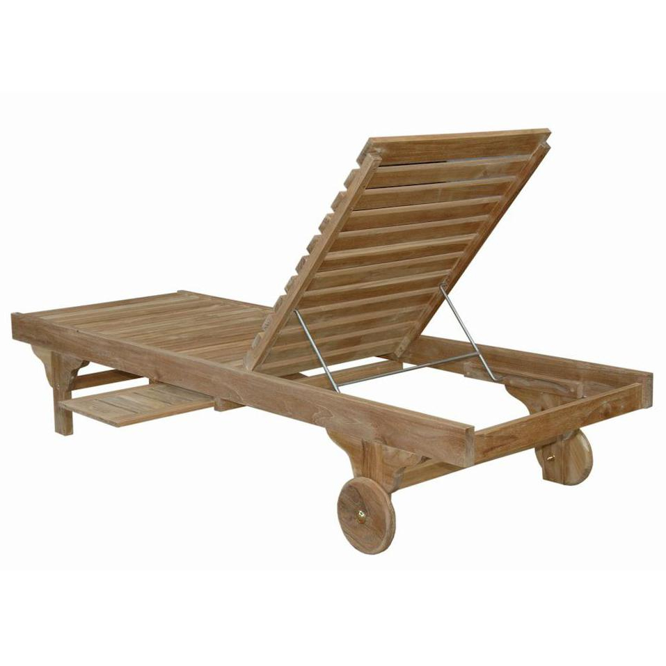 Current Anderson Teak Capri Sun Teak Patio Chaise Lounge – Sl 071 In With Havenside Home Surfside Rutkoske Outdoor Wood Chaise Lounges (View 20 of 25)