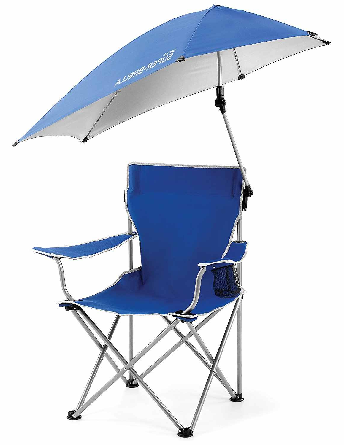 Current Folding Patio Lounge Beach Chairs With Canopy Throughout Outdoor Quik Shade Adjustable Canopy Folding Camp Chair (View 25 of 25)