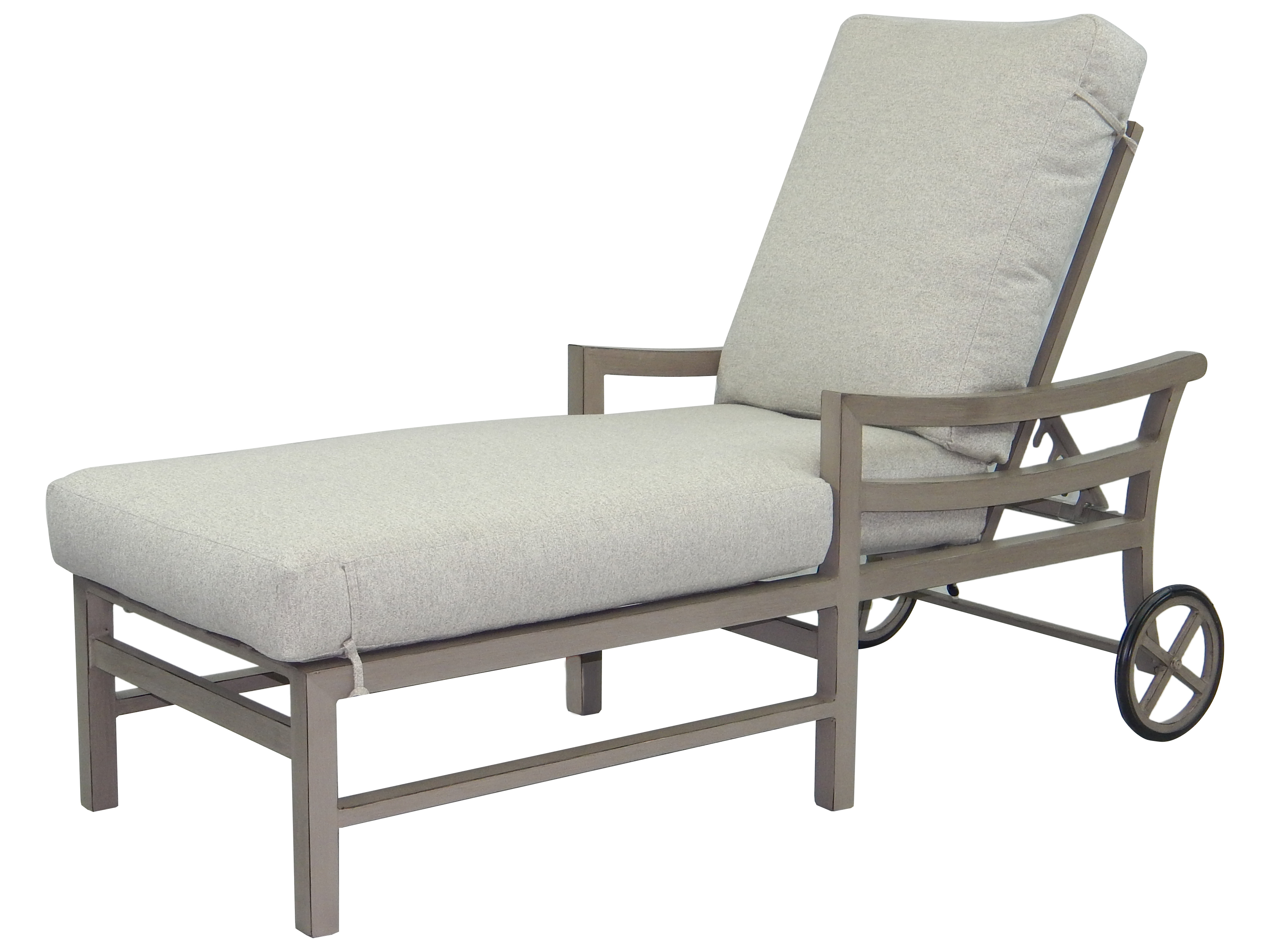 Current Outdoor Aluminum Adjustable Chaise Lounges With Castelle Roma Cushion Aluminum Adjustable Chaise Lounge With Wheels (View 3 of 25)