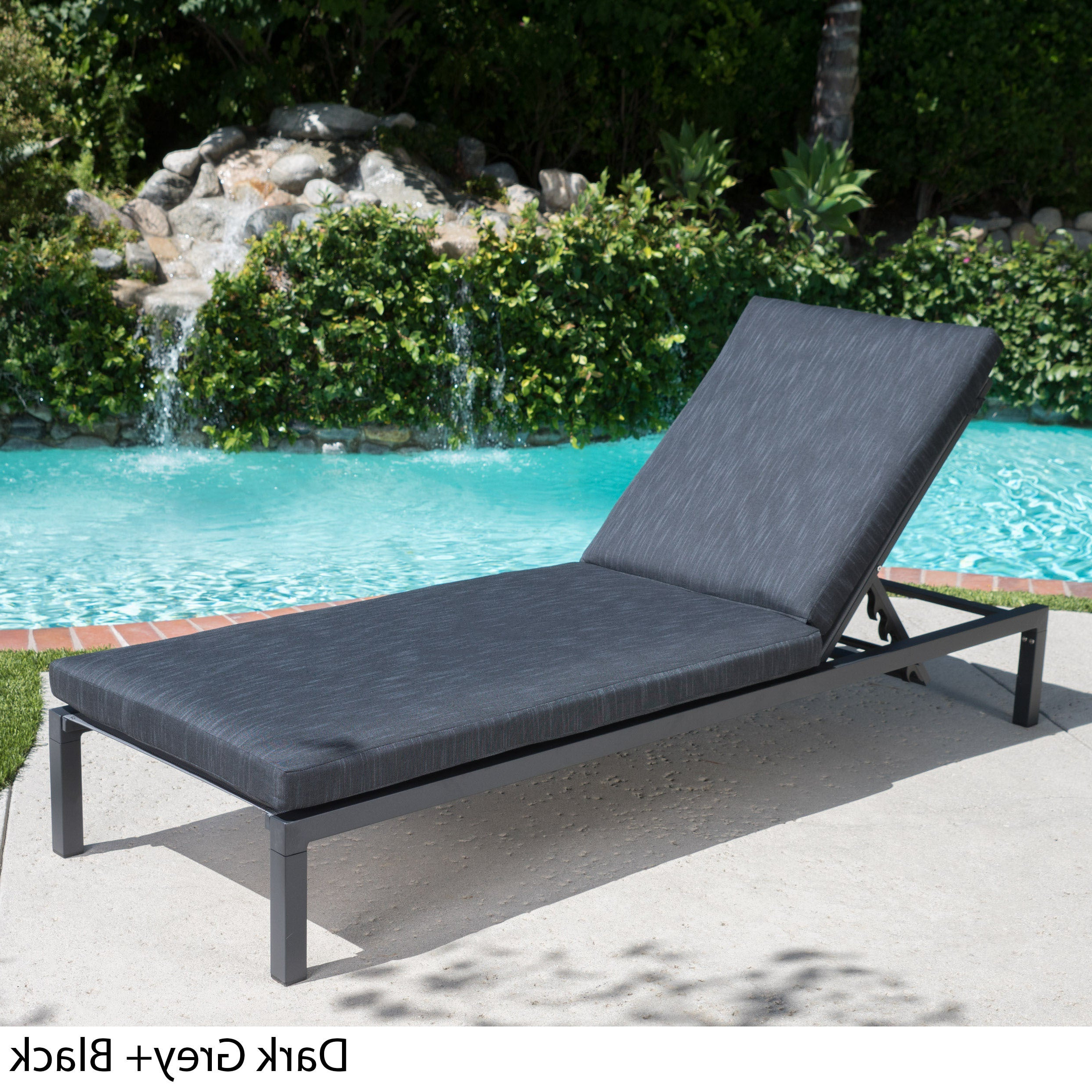 Current Outdoor Aluminum Chaise Lounges Intended For Navan Outdoor Aluminum Chaise Lounge With Cushionchristopher Knight Home (View 6 of 25)