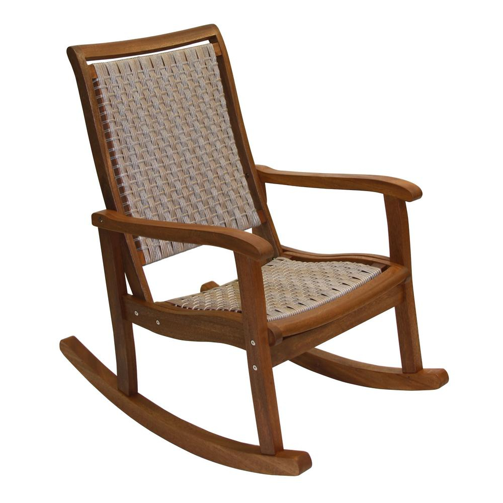 Current Outdoor Rocking Loungers With Regard To Outdoor Interiors Ash Wicker And Eucalyptus Outdoor Rocking Chair (View 6 of 25)