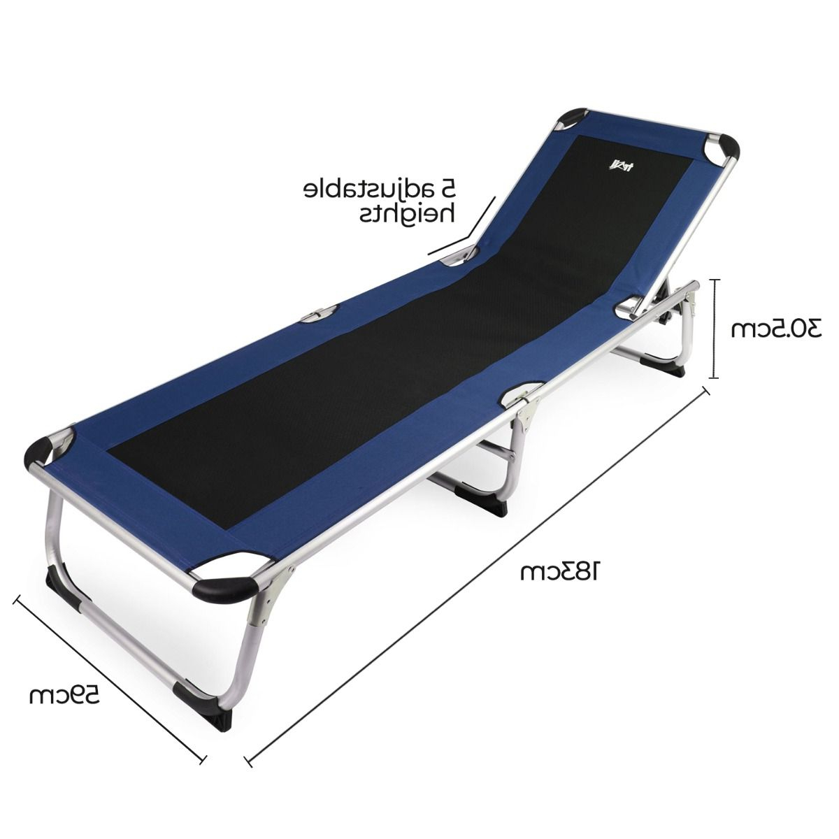 Current Trail Lightweight Aluminium Sun Lounger For All Weather Single Outdoor Adjustable Loungers (View 21 of 25)