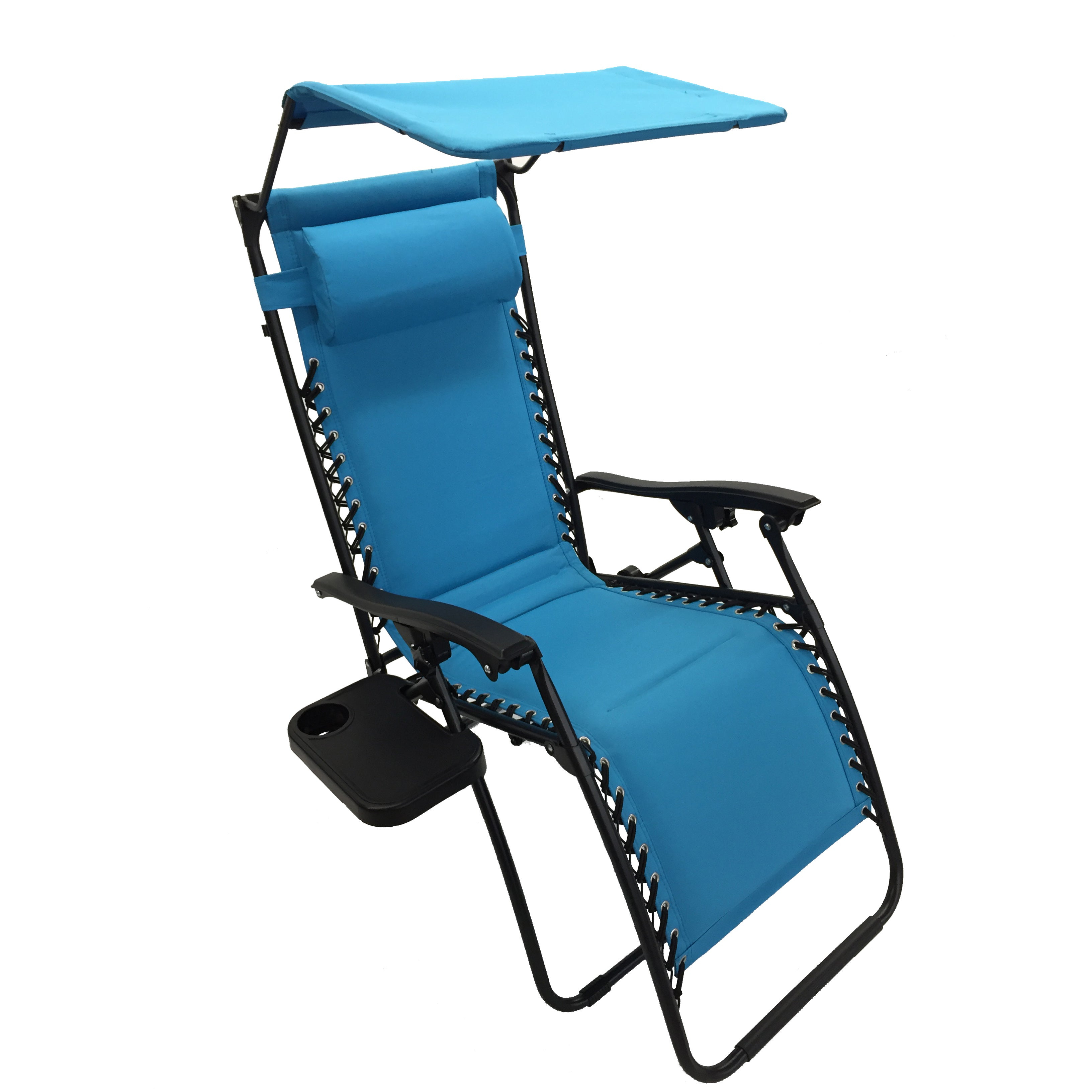 Deluxe Padded Chairs With Canopy And Tray Pertaining To Preferred Styled Shopping Deluxe Padded Zero Gravity Chair With Canopy And Tray (View 5 of 25)