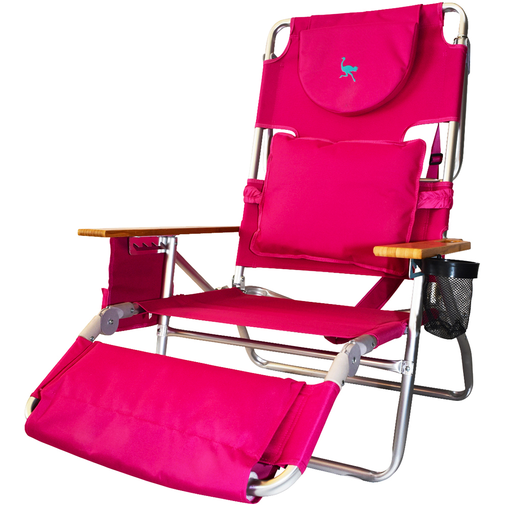 Deluxe Padded Chairs With Canopy And Tray With Trendy Ostrich 3N1 Deluxe Face Down Beach Lounger – Pink (View 11 of 25)