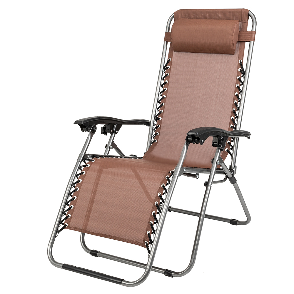 Details About 2 Zero Gravity Folding Lounge Chairs W/ 1 Table Beach Patio Outdoor Recliner With Regard To Trendy Outdoor Yard Pool Recliner Folding Lounge Table Chairs (View 4 of 25)