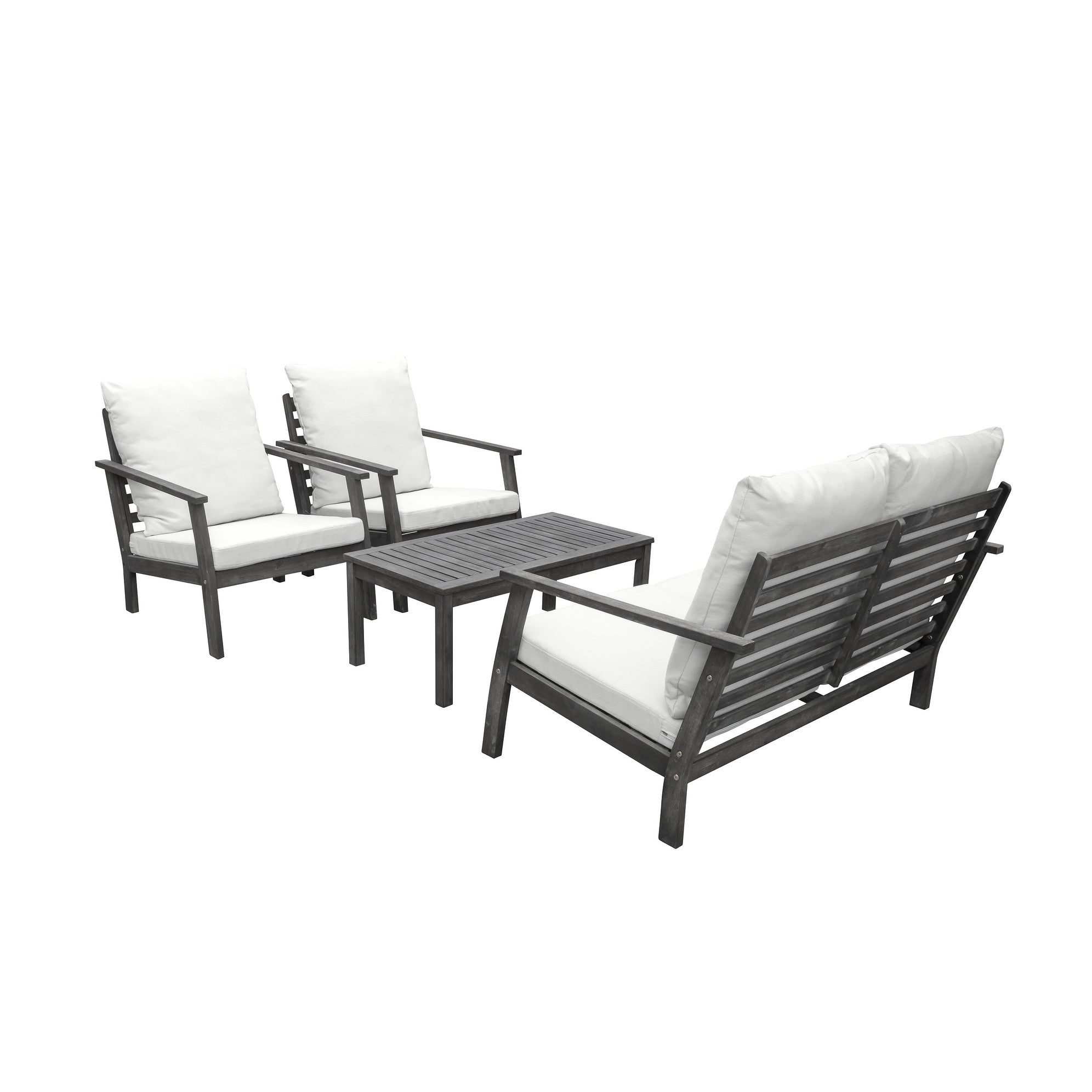 Details About Havenside Home Surfside Outdoor Patio Hand Scraped Wood Sofa Grey 4 Piece Sets Throughout Famous Havenside Home Surfside Outdoor Lounge Chairs (View 18 of 25)