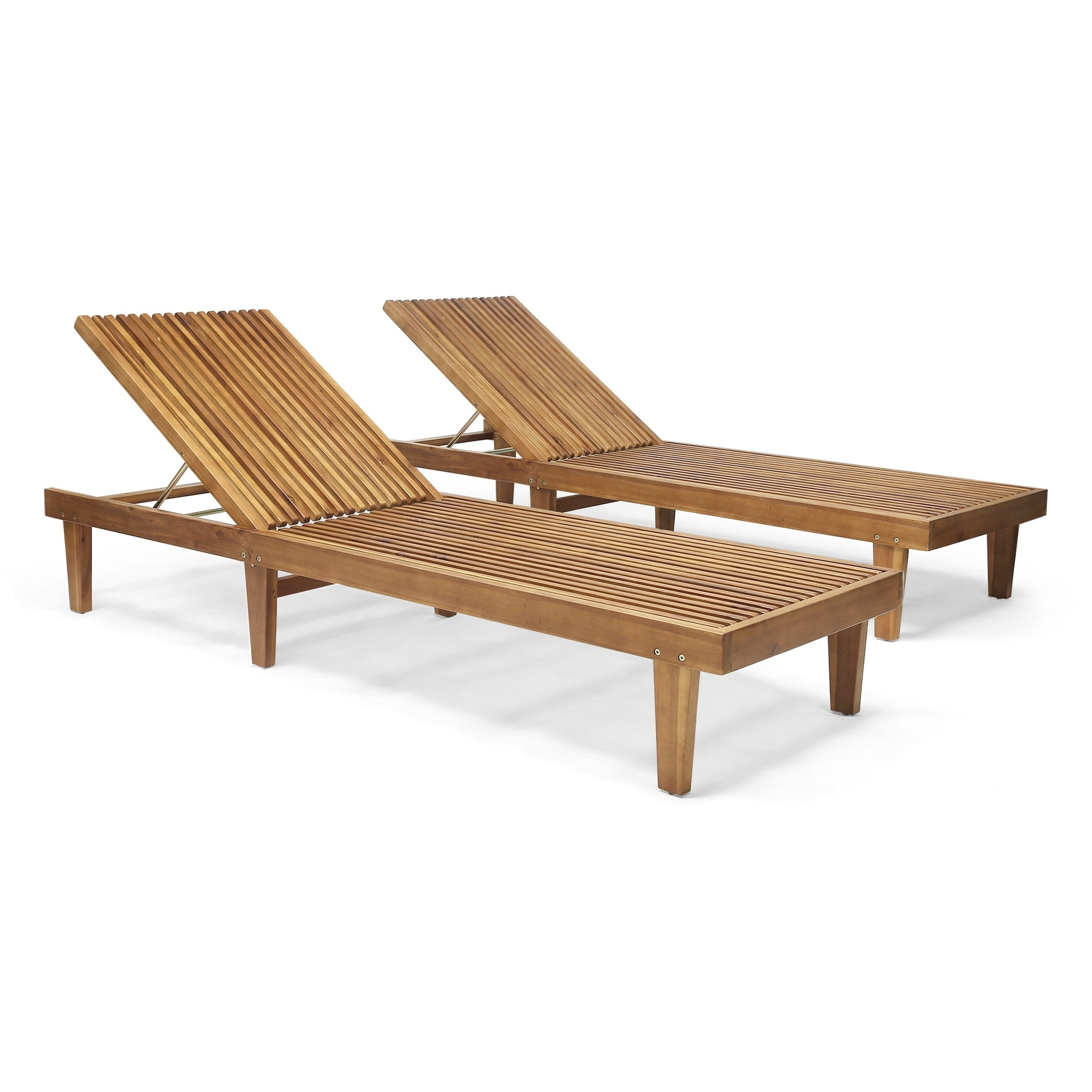 Details About Nadine Outdoor Adjustable Wood Chaise Lounge (set Of 2) By With 2020 Outdoor Adjustable Wood Chaise Lounges (View 3 of 25)