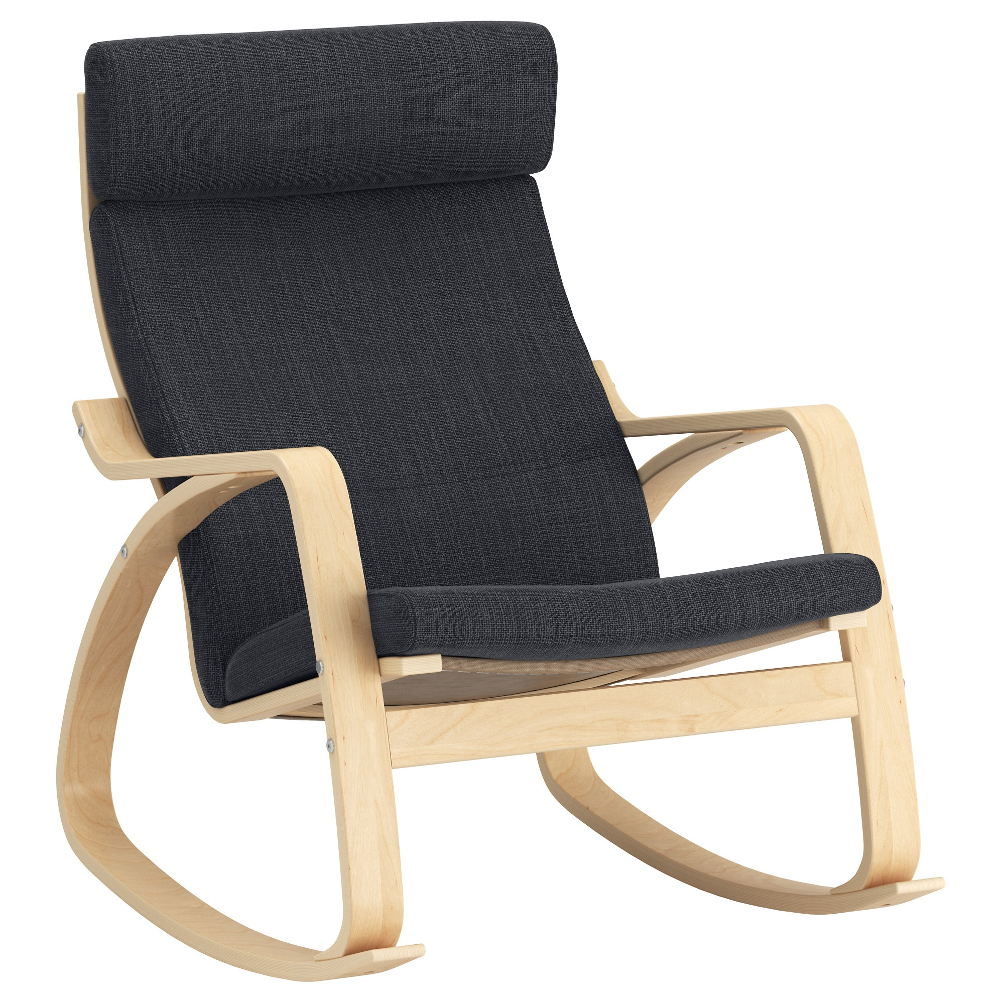Easy Outdoor Rocking Lounge Chairs Intended For Most Popular Poäng – Rocking Chair, Birch Veneer, Hillared Anthracite (Gallery 19 of 25)