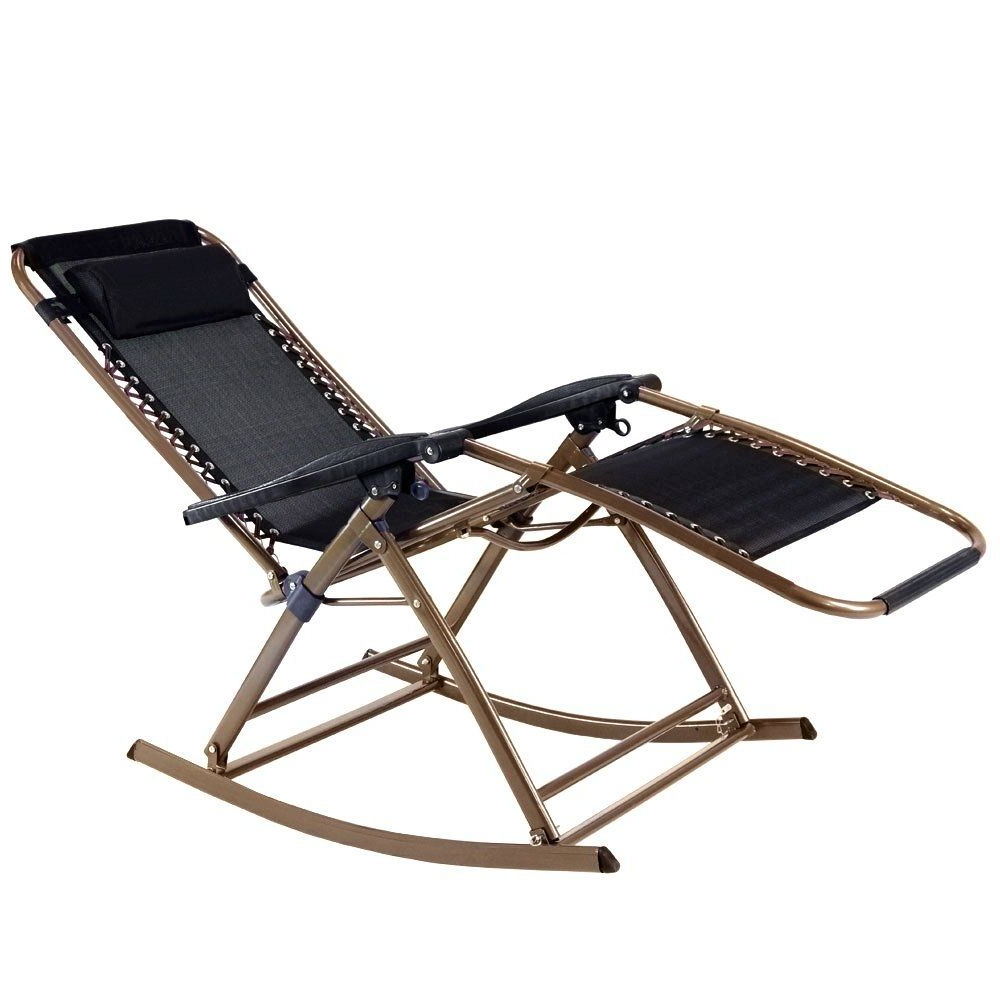Easy Outdoor Zero Gravity Rocking Lounge Chair (Gallery 4 of 25)