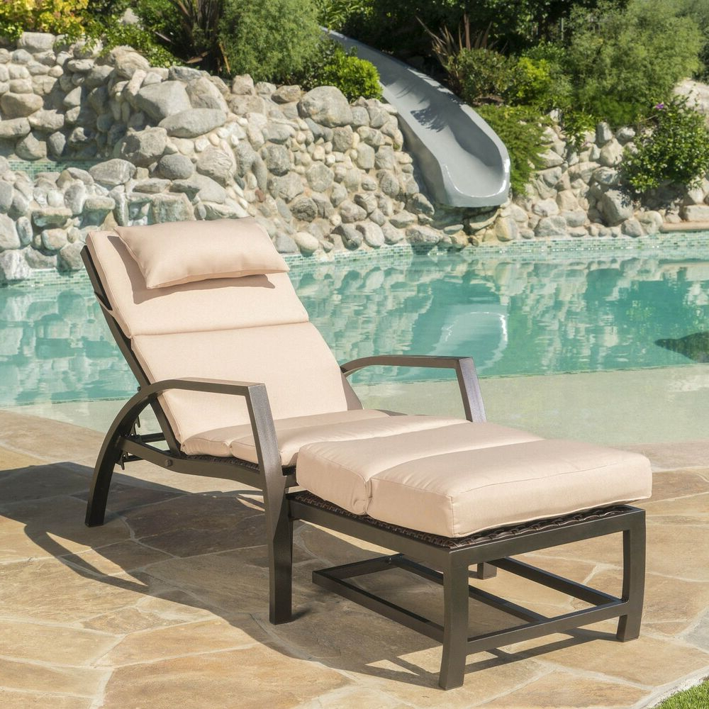 Ebay With Navan Outdoor Aluminum Chaise Lounges With Cushion (View 10 of 25)