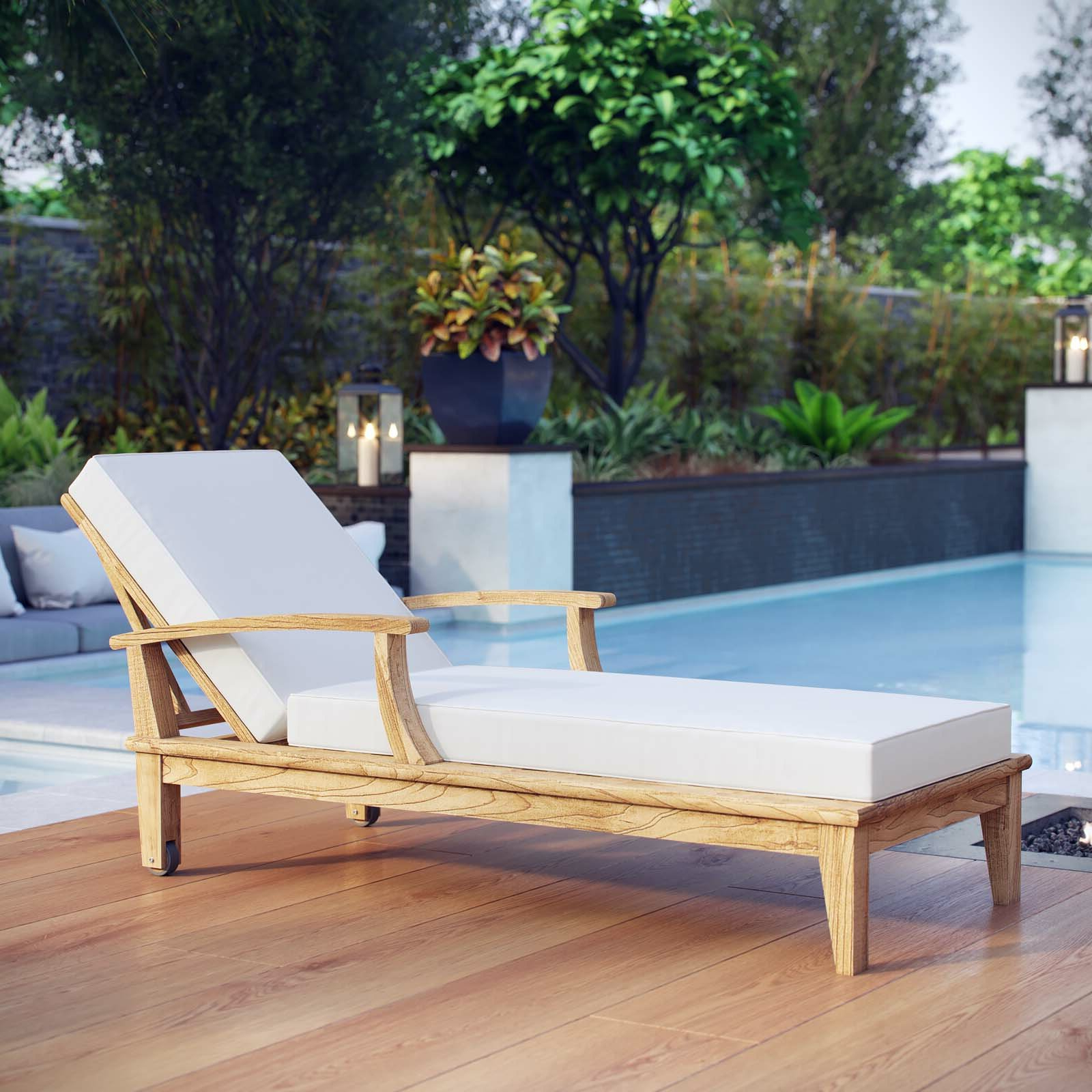Elaina Teak Chaise Lounge For Popular Teak Chaise Loungers (View 15 of 25)