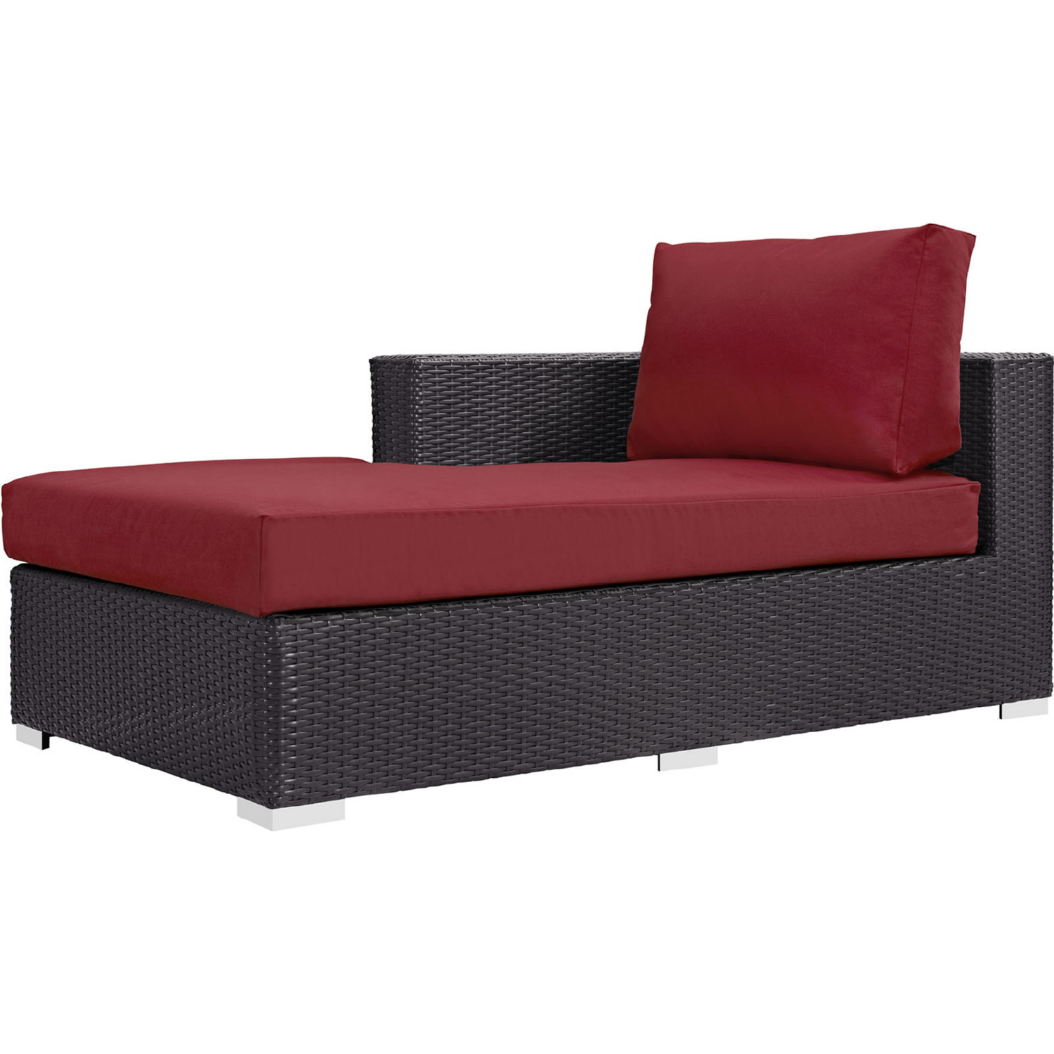 Envisage Chaise Outdoor Patio Wicker Rattan Lounge Chairs Inside Most Recent Patio Furniture Chaise / Lounge Chairs (Gallery 17 of 25)