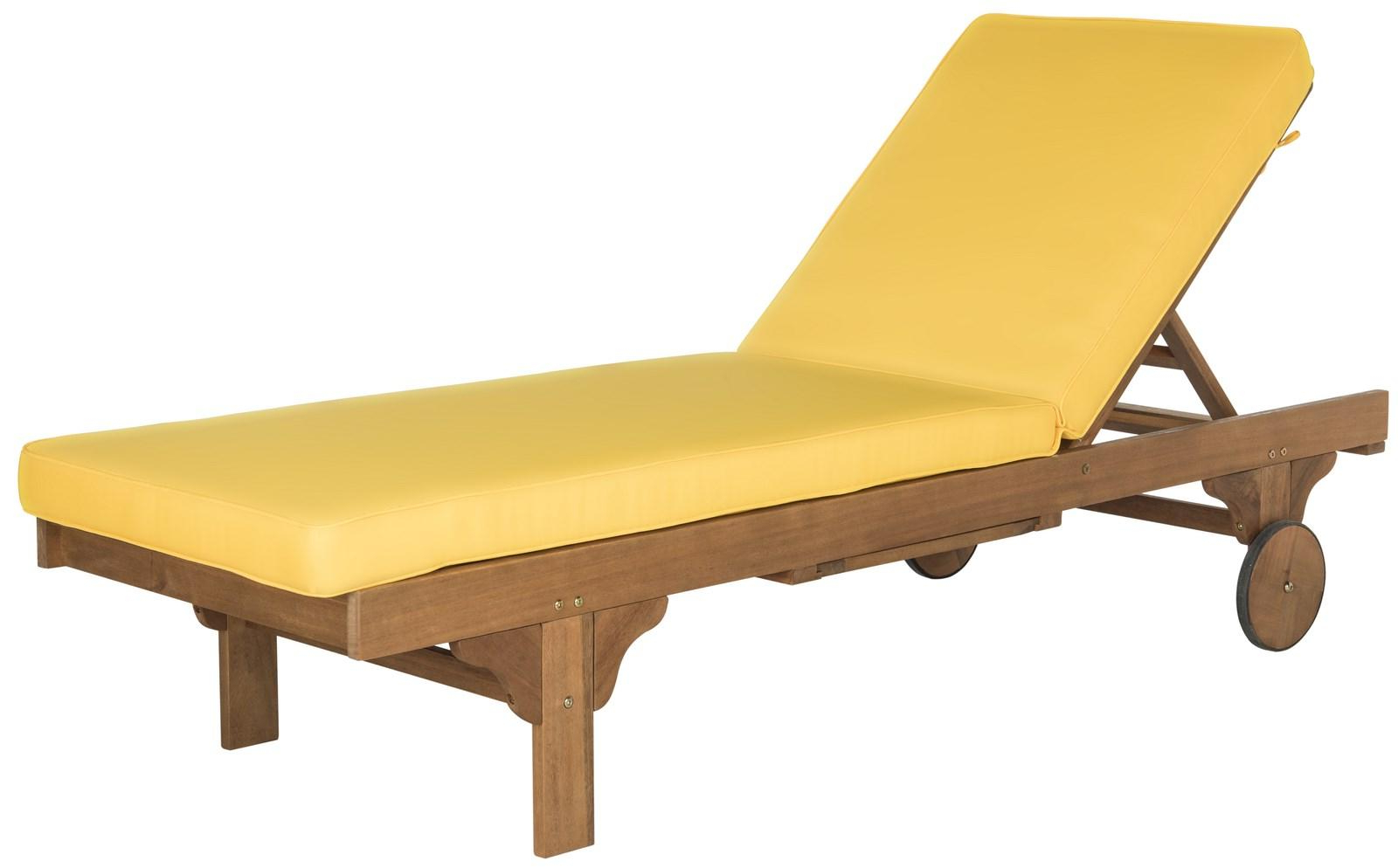 Eucalyptus Teak Finish Outdoor Chaise Loungers With Cushion In Well Known Chaise Lounge Chair (View 5 of 25)