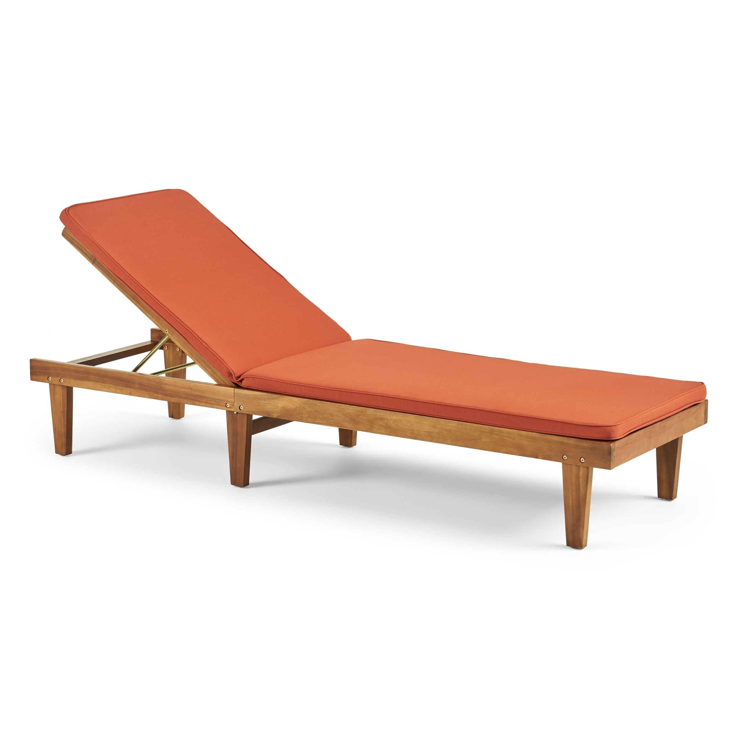 Eucalyptus Teak Finish Outdoor Chaise Loungers With Cushion Inside Fashionable Nadine Outdoor Acacia Wood Chaise Lounge And Cushion Setchristopher Knight Home (View 3 of 25)
