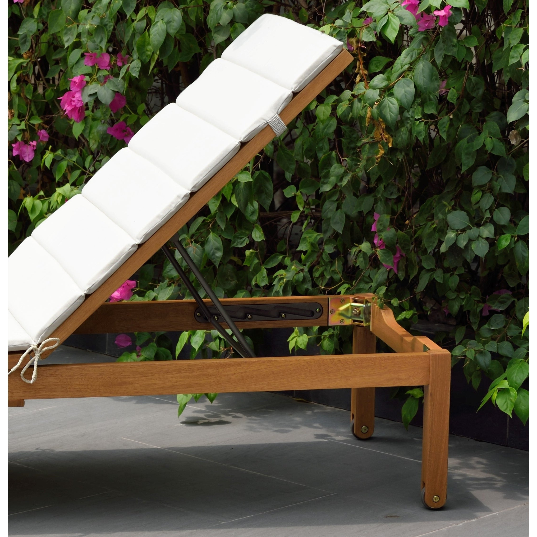 Eucalyptus Teak Finish Outdoor Chaise Loungers With Cushion Pertaining To Famous Amazonia Katia Eucalyptus/teak Finish Outdoor Chaise Lounger With Grey Cushion (View 6 of 25)