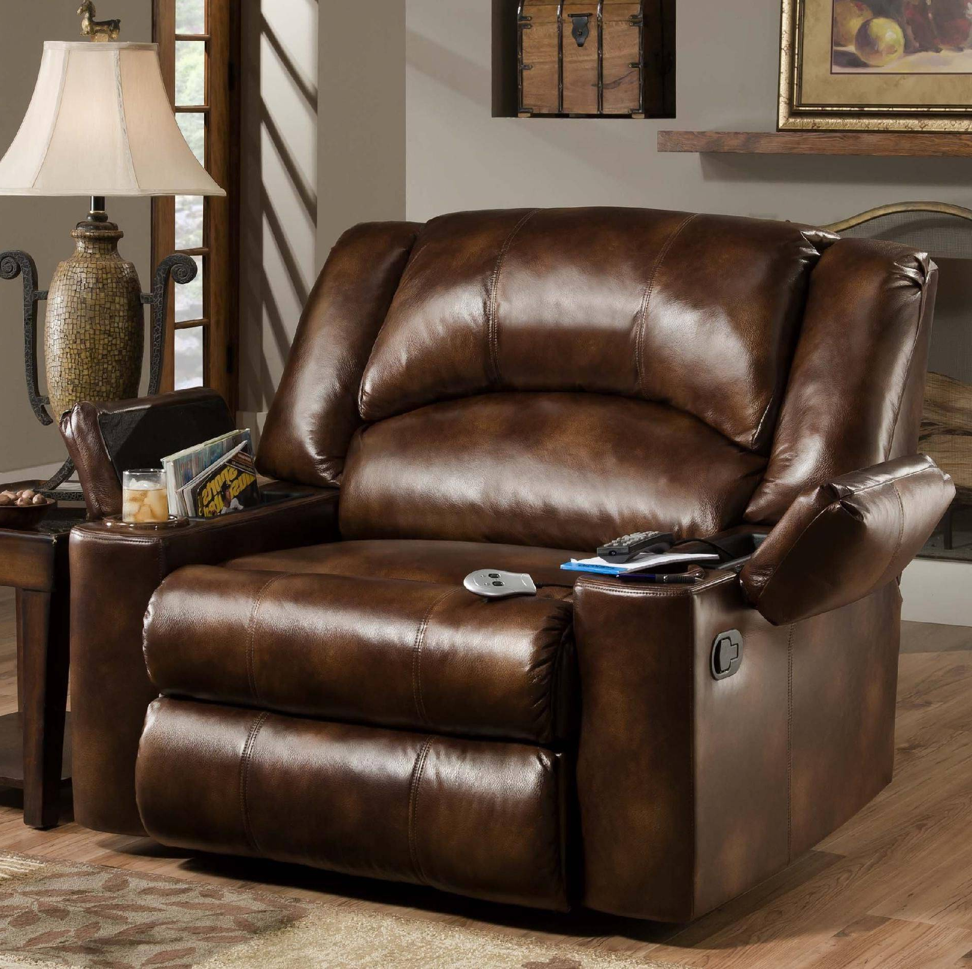 Extra Wide Recliner Lounge Chairs Pertaining To Current Good Looking Extra Wide Leather Recliner Home Improvement (View 8 of 25)