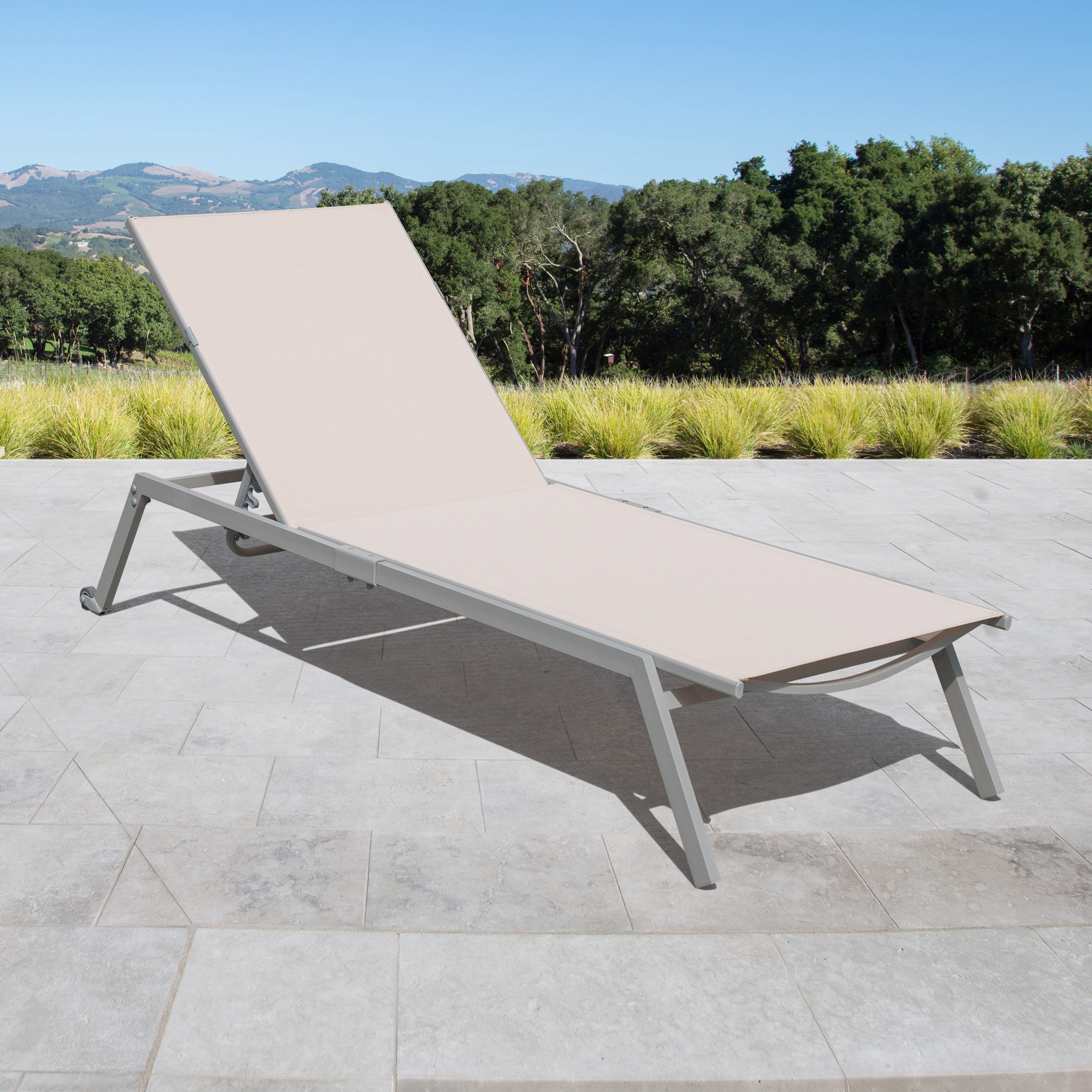 Featured Photo of Fabric Reclining Outdoor Chaise Lounges