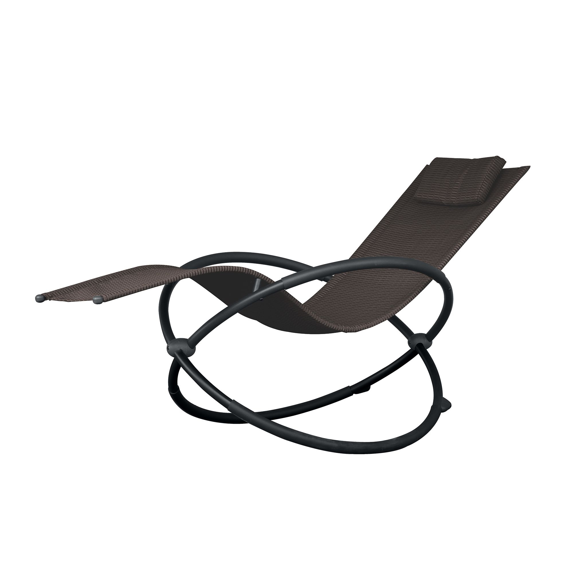 Famous Corliving Riverside Textured Loungers In Phat Tommy Orbital Lounger (sienna), Grey, Patio Furniture (View 21 of 25)