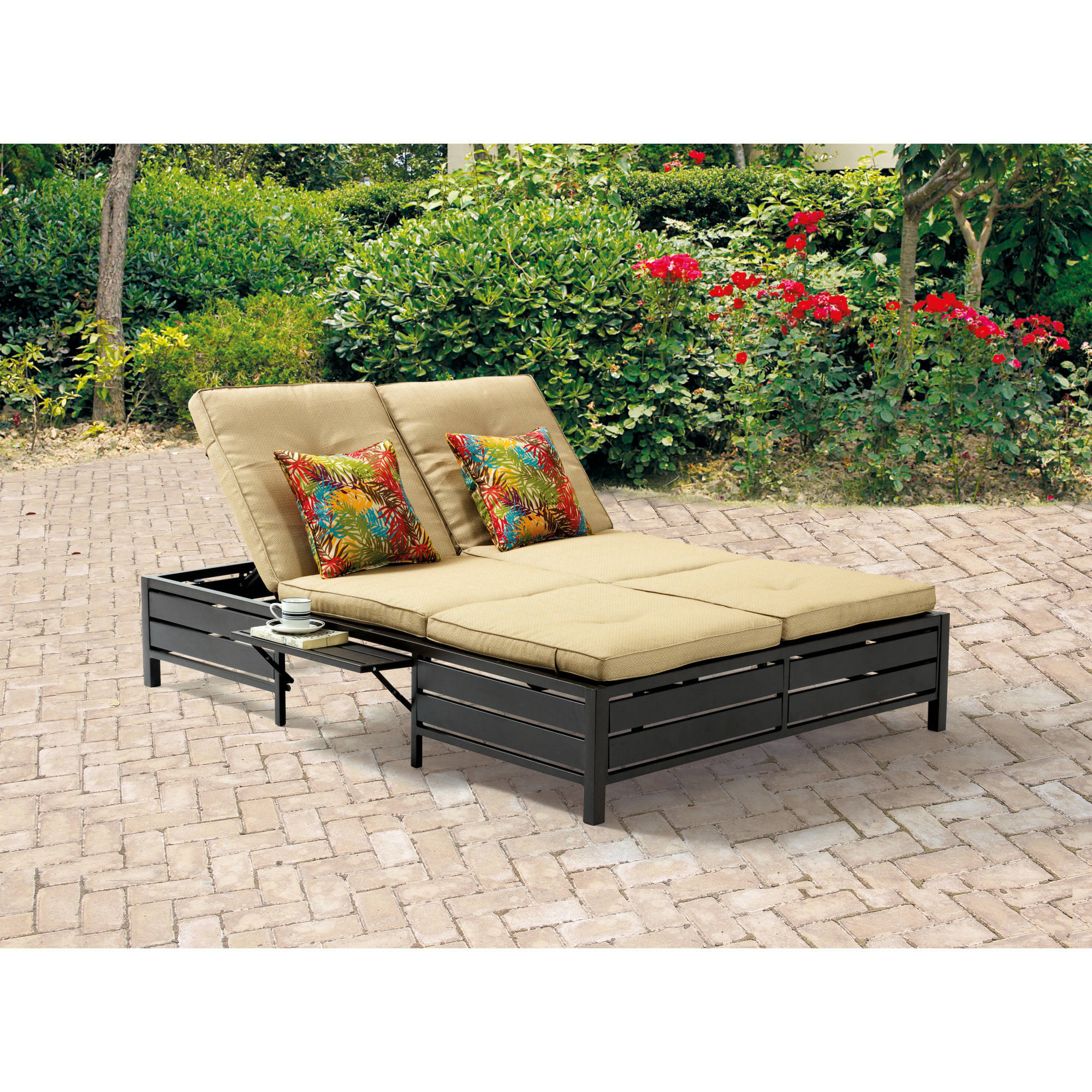 Famous Cosco Outdoor Aluminum Chaise Lounge Chairs Within Cosco Outdoor Adjustable Aluminum Chaise Lounge Chair Serene Ridge Set, 2 Pack, Dark Brown (View 5 of 25)