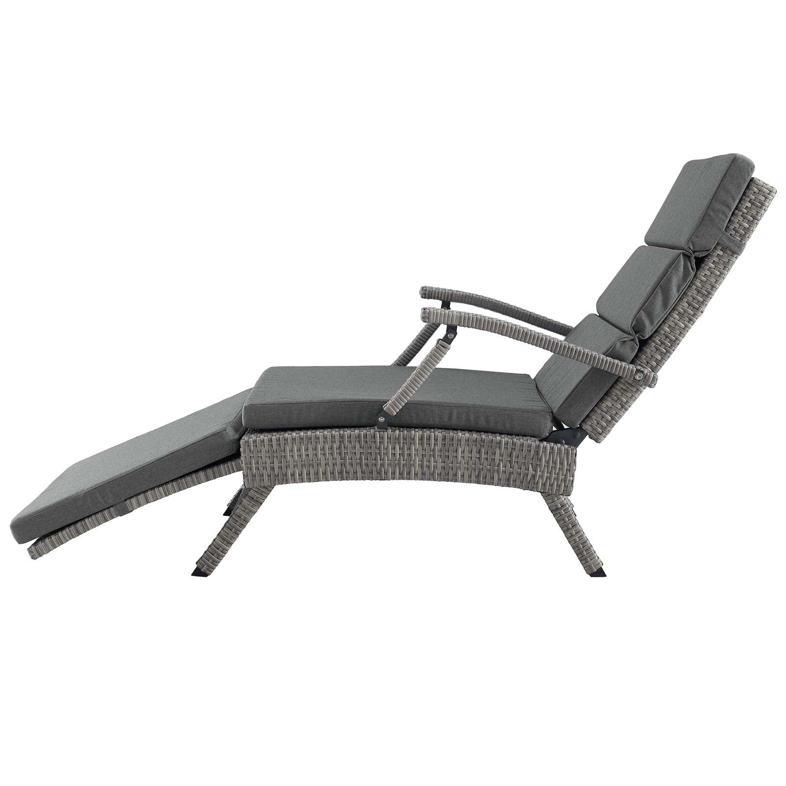 Featured Photo of Envisage Chaise Outdoor Patio Wicker Rattan Lounge Chairs