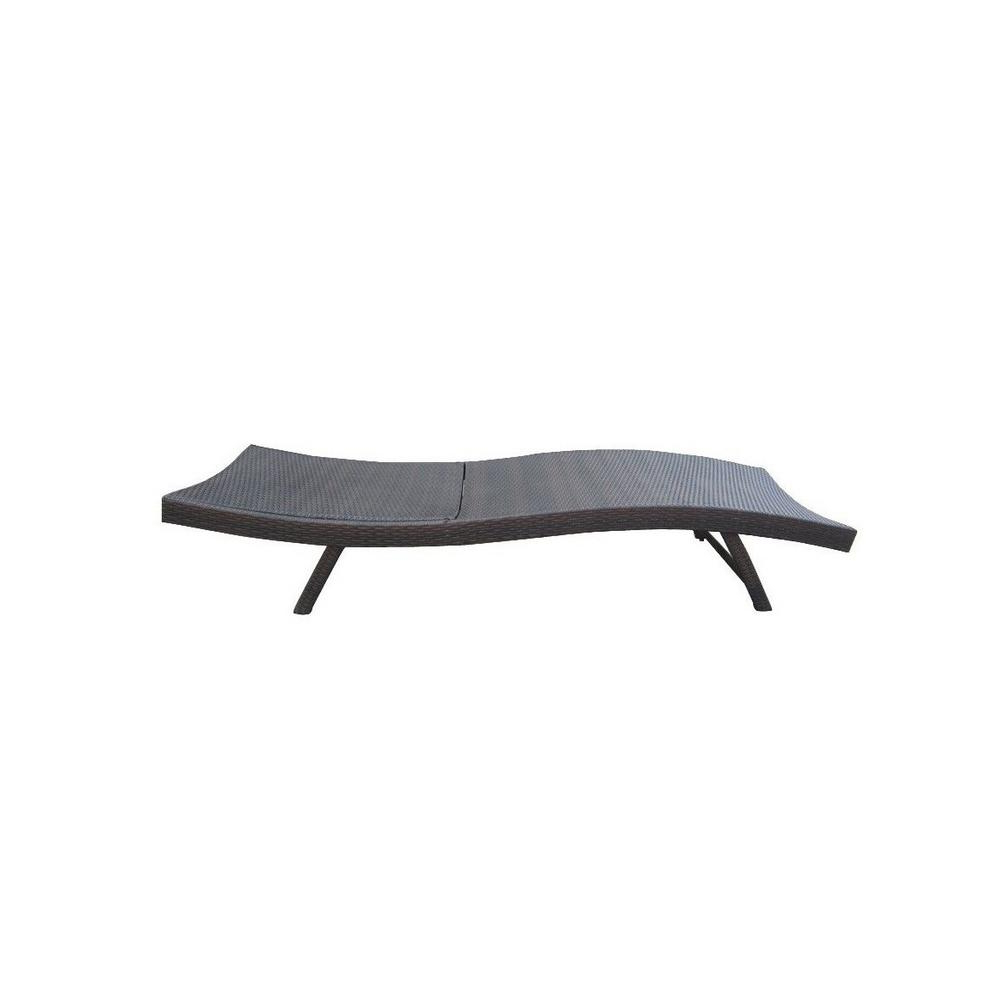 Famous Kauai Outdoor Wicker Chaise Lounges Intended For Noble House Kauai Gray 6 Piece Wicker Outdoor Chaise Lounge And Table Set (View 17 of 25)