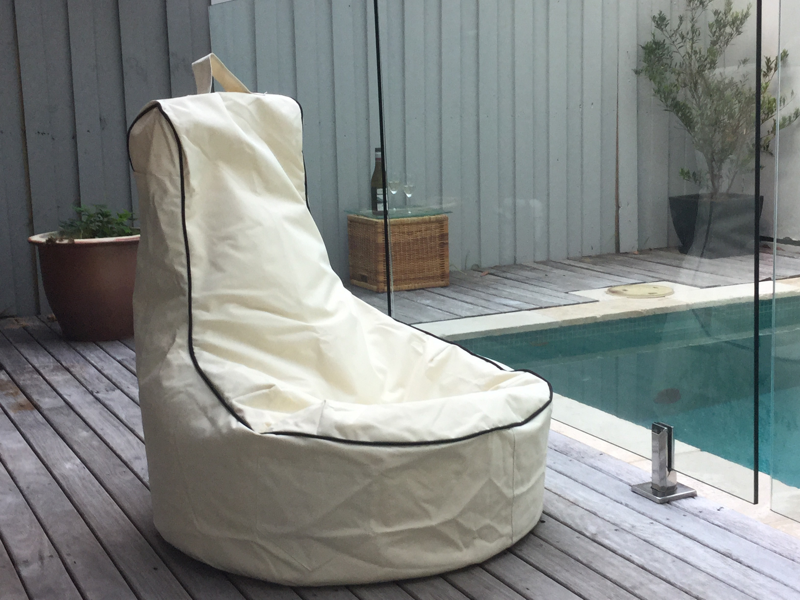 Famous Pura Bean Bag Chair – Indoor Outdoor Water Resistant Seat With Regard To Indoor/outdoor Patio Bean Bag Chairs (View 2 of 25)