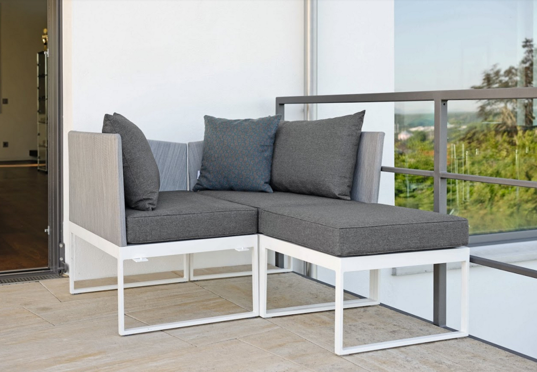 Fashionable Modern Aluminum Textilene Outdoor 3 Seater Sofa Balcony Intended For Resin Wicker Aluminum Multi Position Chaise Lounges (View 6 of 25)