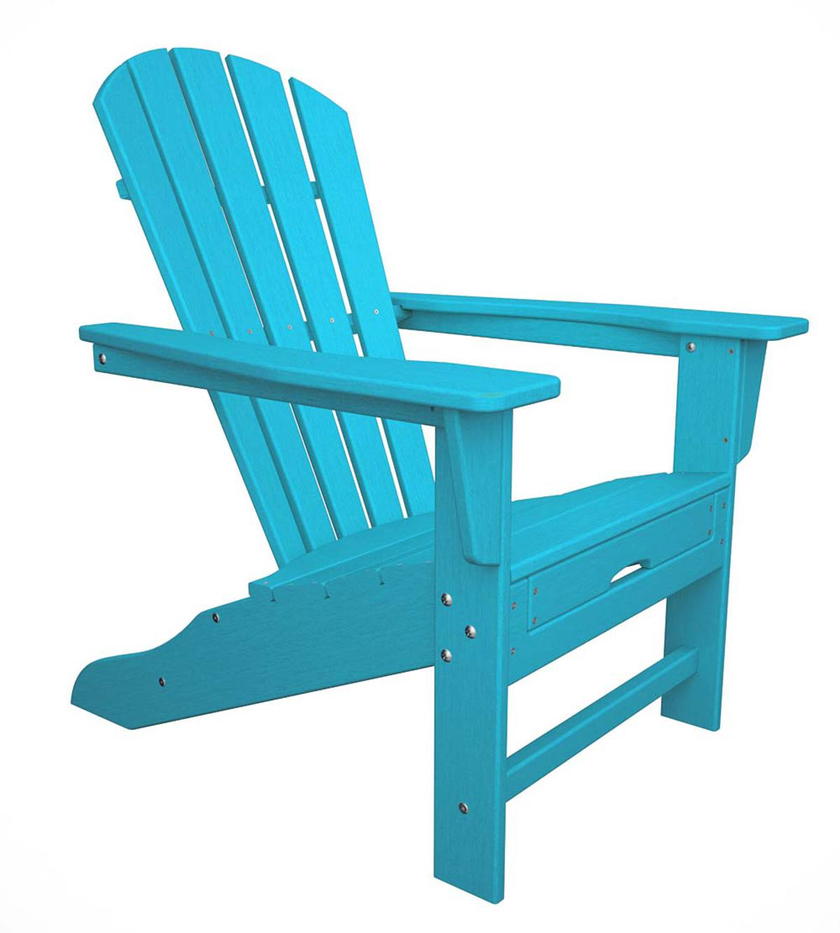 Fashionable Polywood® Adirondack Chair With Hideaway Ottoman – Aruba With Regard To Mahogany Adirondack Chairs With Ottoman (View 22 of 25)