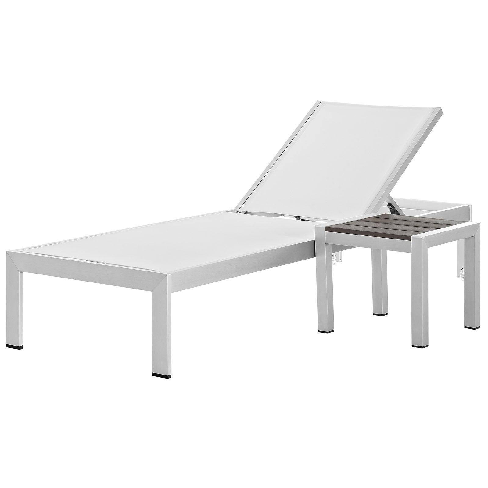 Fashionable Shore Aluminum Outdoor Chaise Set Of 2 Inside Shore Aluminum Outdoor Chaise Lounges (View 14 of 25)