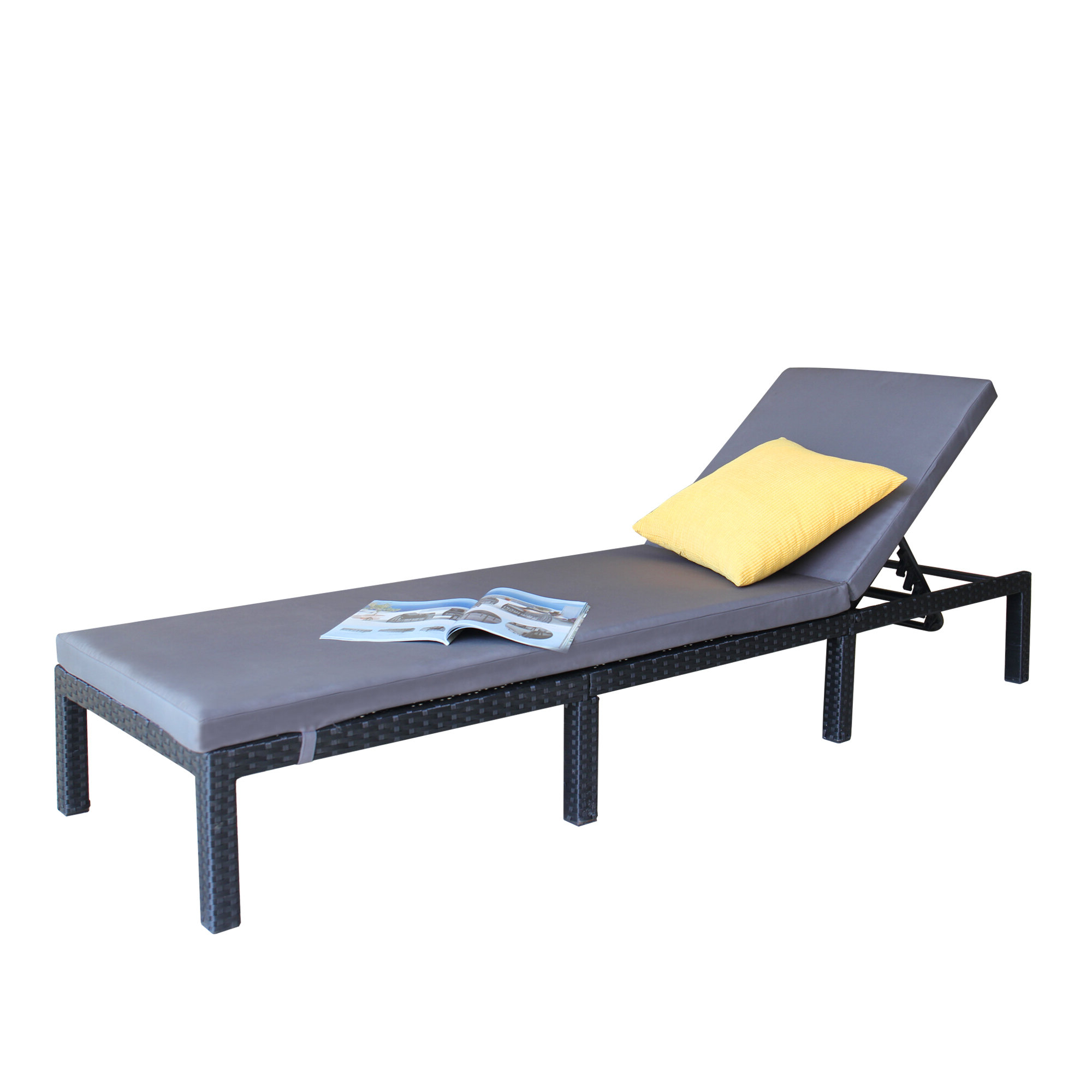 Favorite Anthonyville Outdoor Adjustable Reclining Chaise Lounge With Cushion With Antonio Sling Fabric Adjustable Outdoor Chaise Lounges (View 16 of 25)