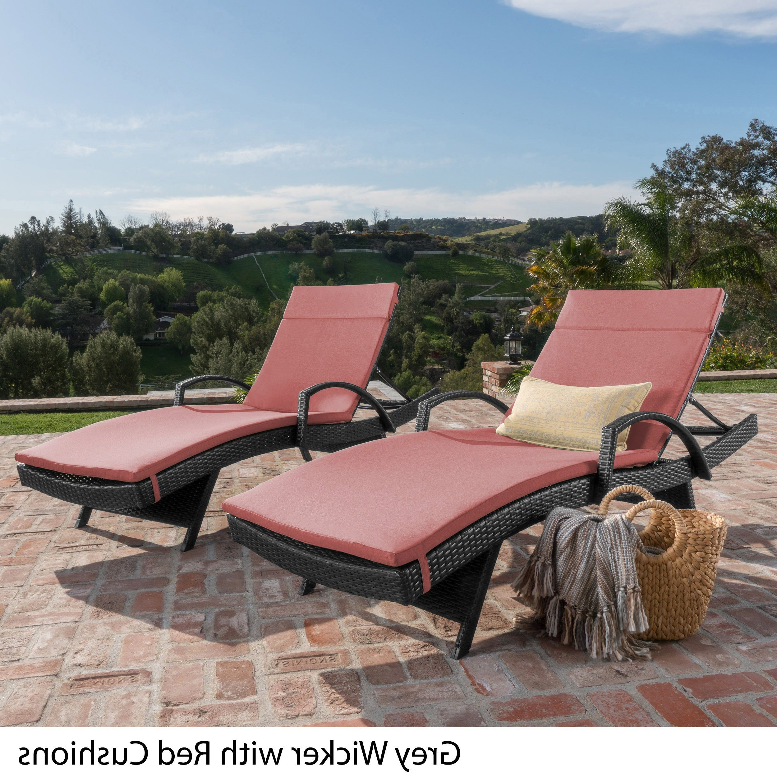 Favorite Chaise Lounge Chairs In Bronze With Oatmeal Cushions For Havenside Home Vilano Outdoor Cushioned Lounge Chair (set Of 2) (View 8 of 25)