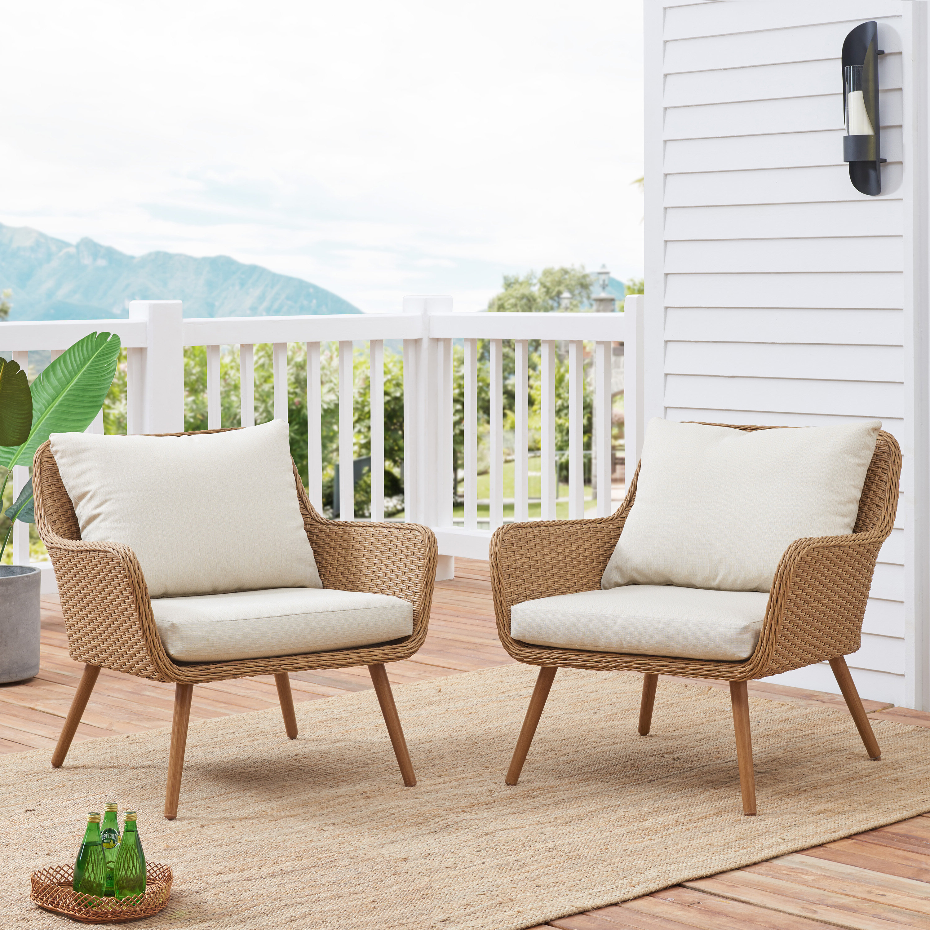 Favorite Chaise Lounge Chairs In Bronze With Oatmeal Cushions Regarding Machen Outdoor Patio Chair With Cushions (View 18 of 25)