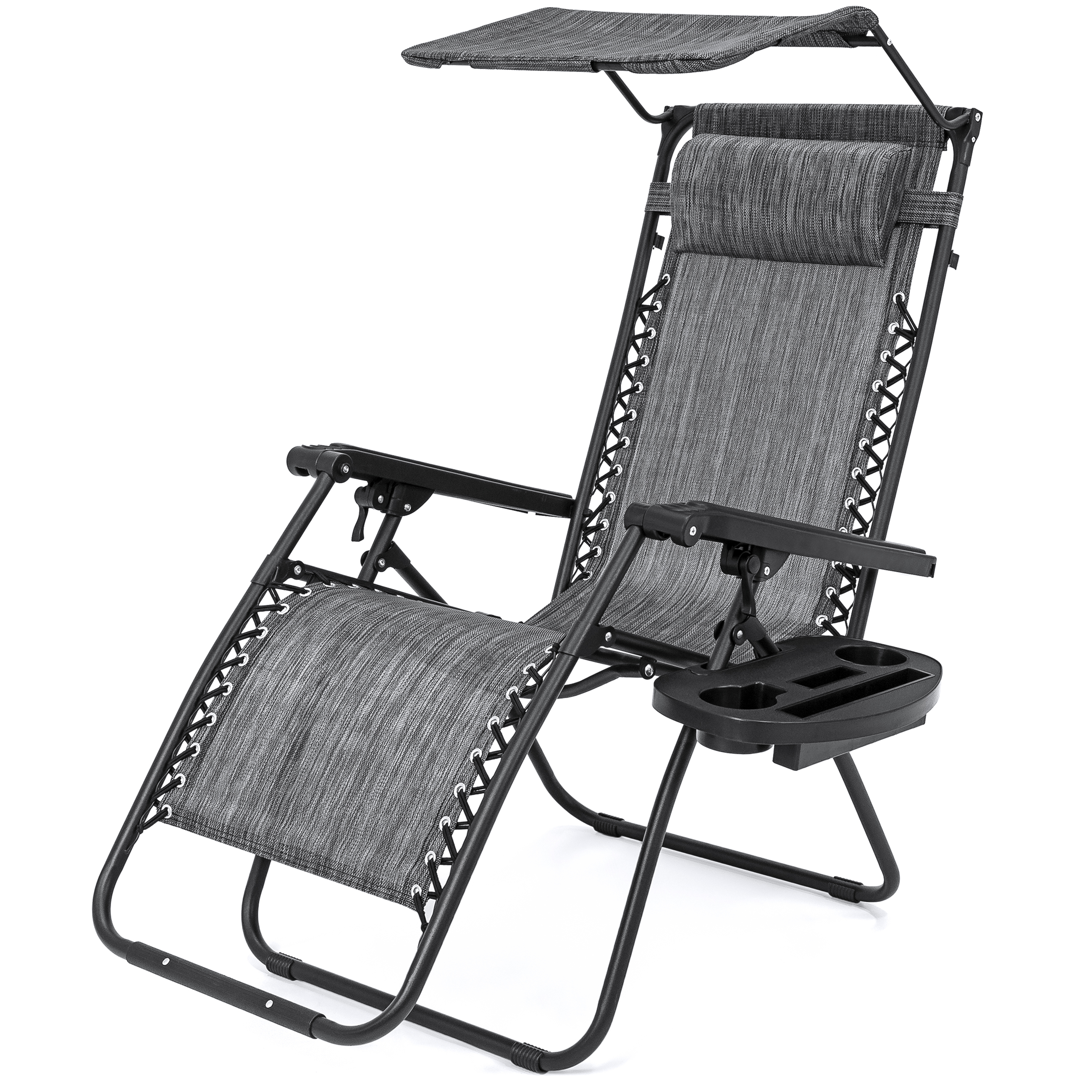 Favorite Double Reclining Lounge Chairs With Canopy In Best Choice Products Zero Gravity Chair W/ Canopy Shade (View 12 of 25)