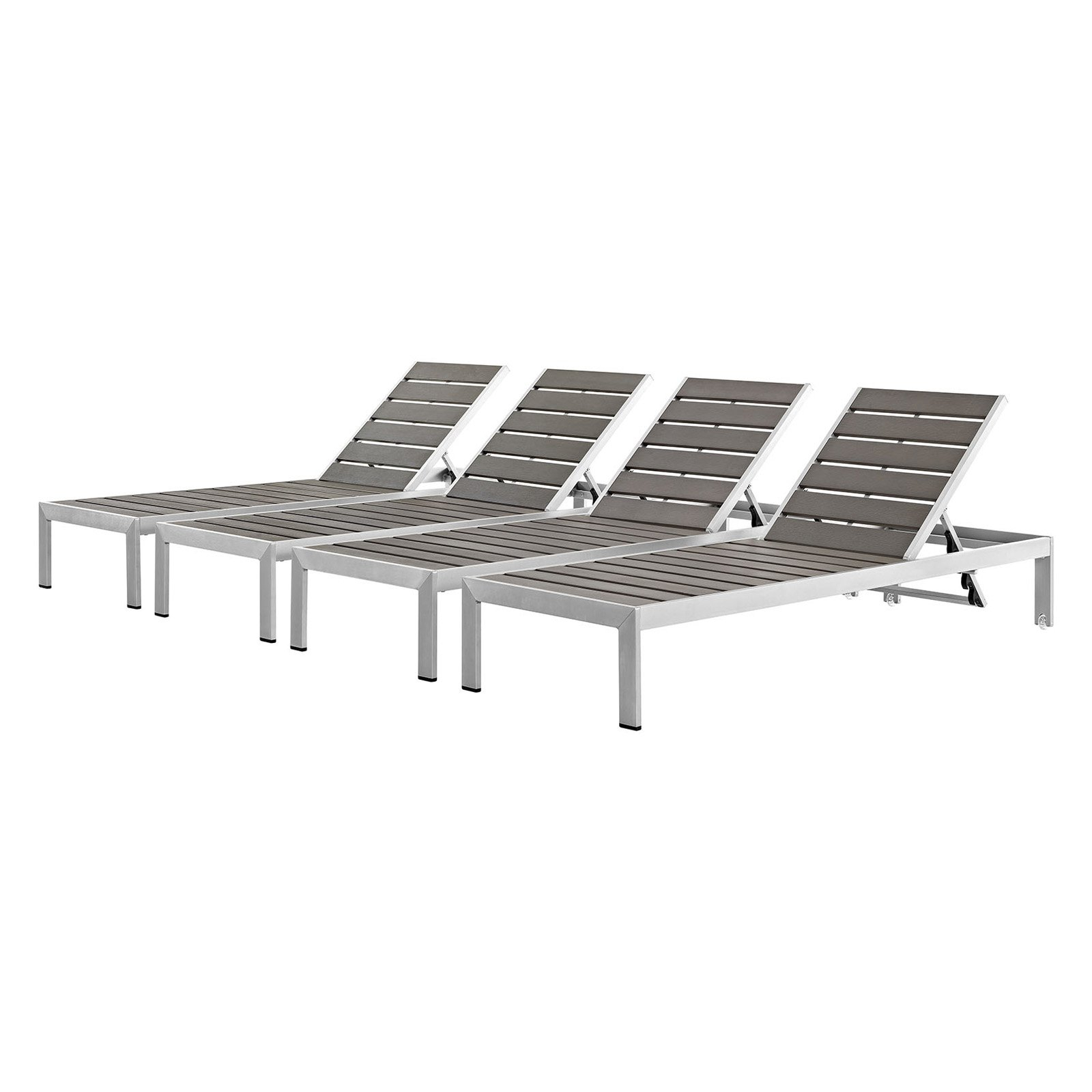 Favorite Havenside Home Surfside Rutkoske Outdoor Wood Chaise Lounges Inside Outdoor Modway Shore Aluminum Patio Chaise Lounge (View 13 of 25)
