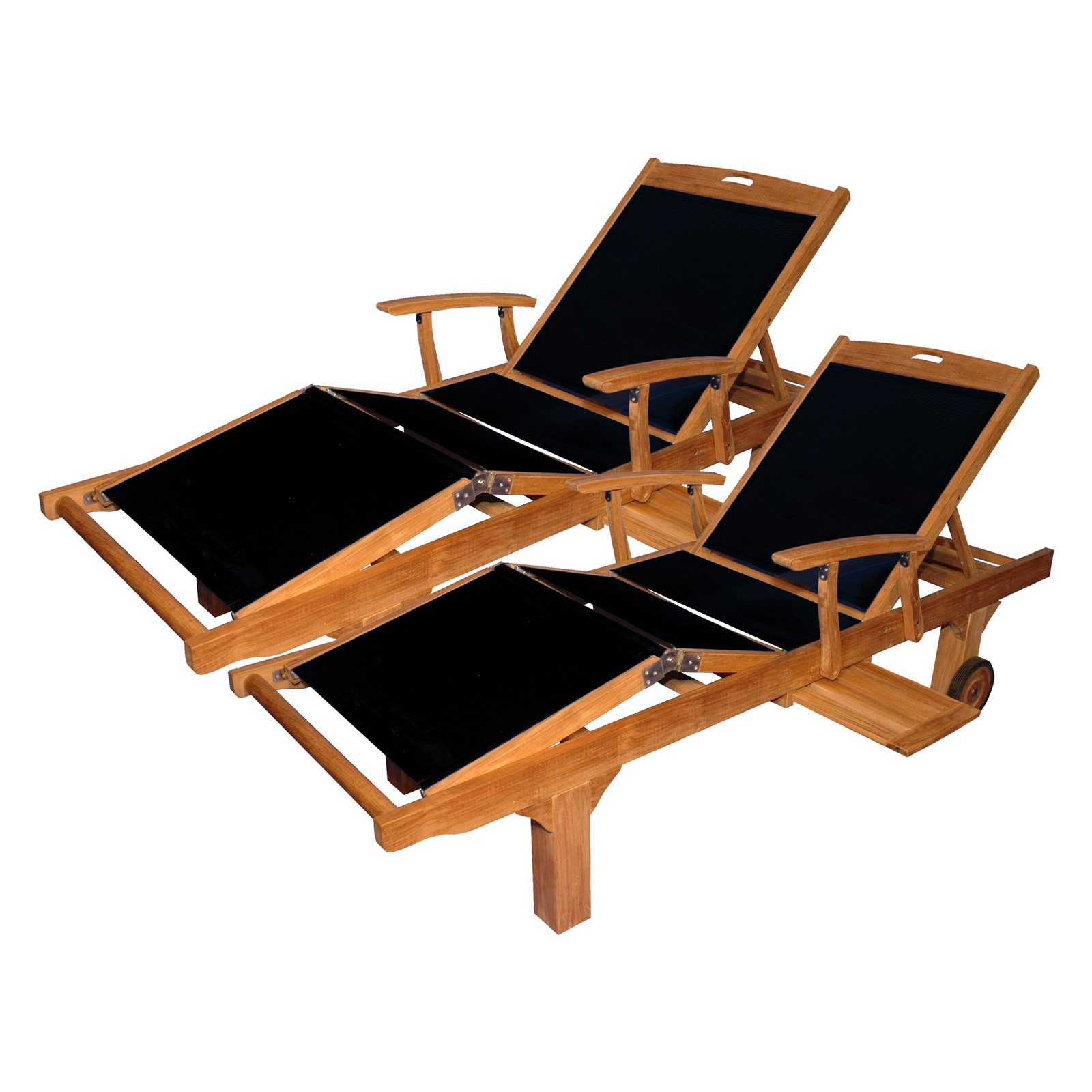 Favorite Outdoor Regal Teak Teak Chaise Lounges With Sling Fabric And Intended For Black Sling Fabric Adjustable Chaise Lounges (View 22 of 25)