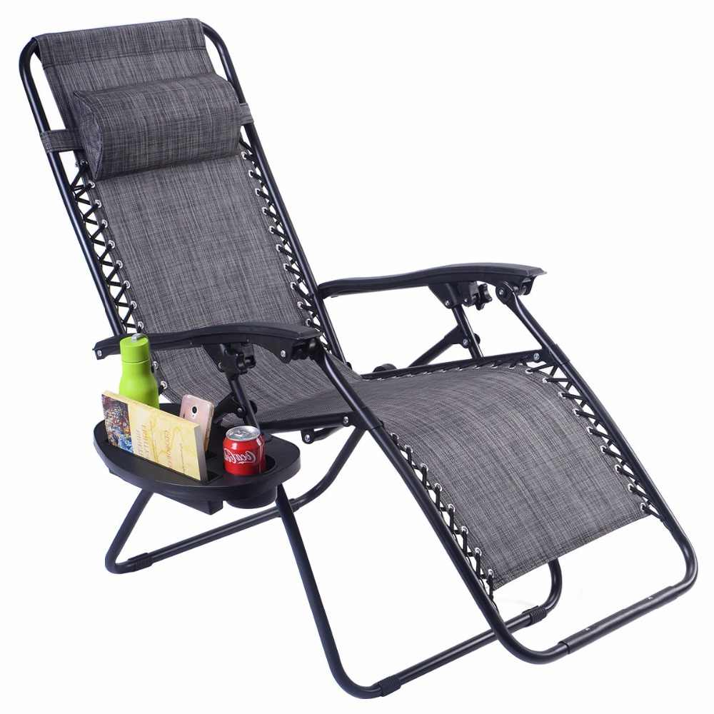 Favorite Plum Blossom Lock Portable Saucer Khaki Folding Chairs Throughout Guplus Folding Zero Gravity Chair Outdoor Picnic Camping Sunbath Beach Chair With Utility Tray Reclining Lounge Chairs Op (View 22 of 25)